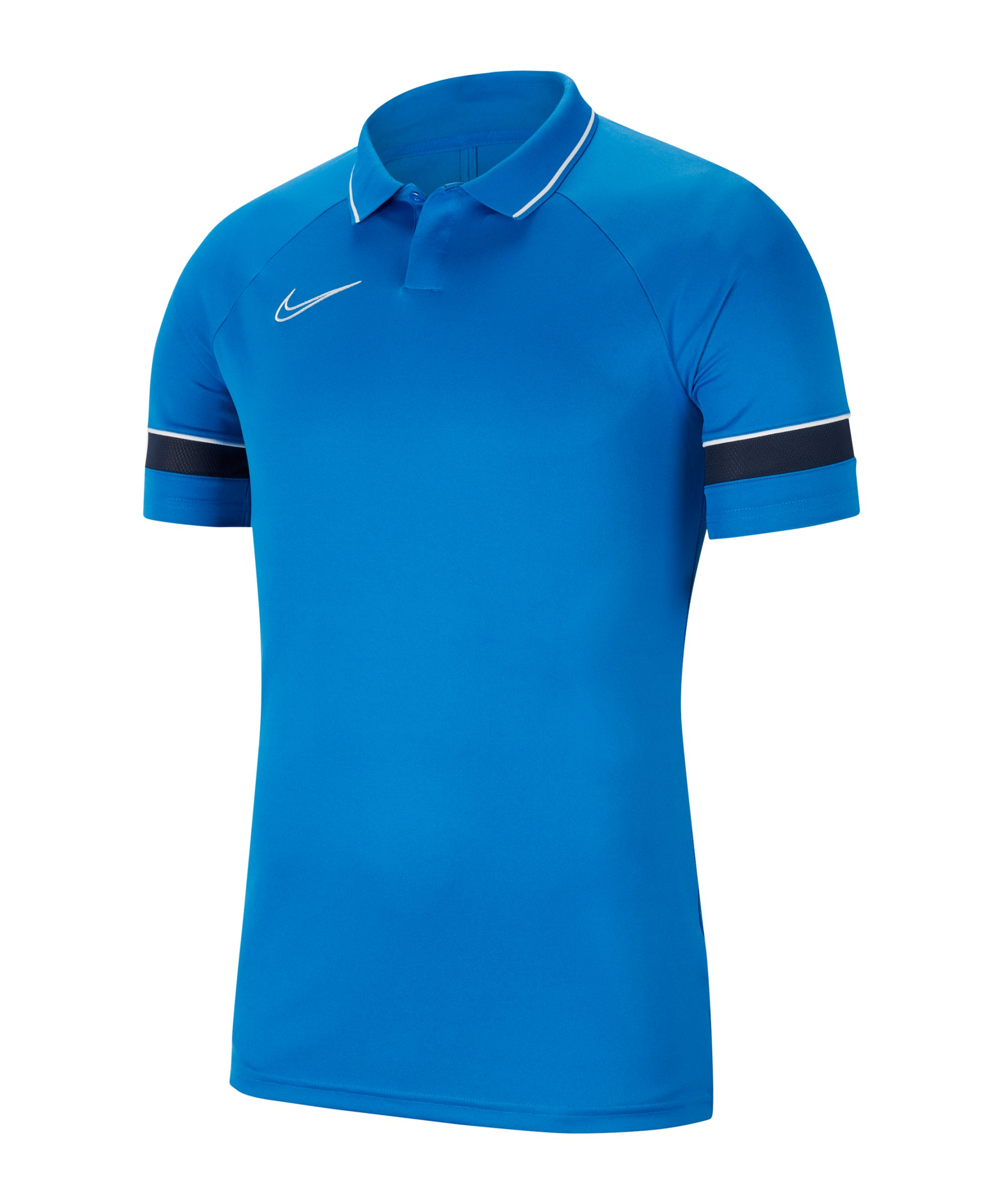Nike Academy 21 Poloshirt Blau Weiss F463 - blau