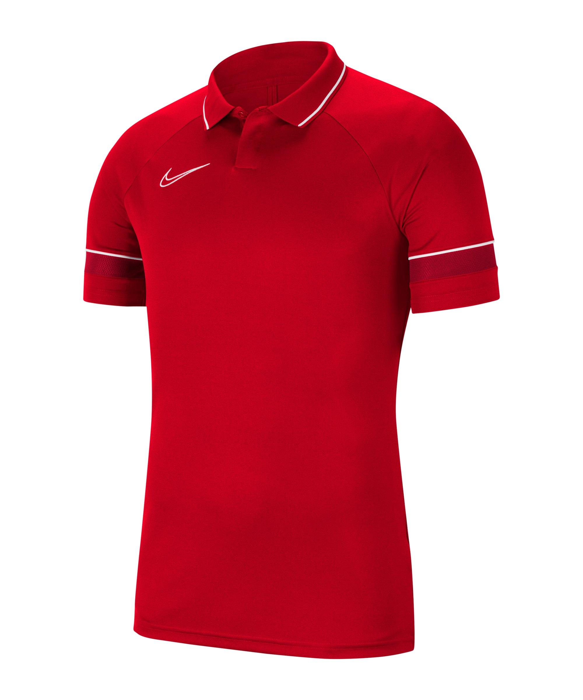 Nike Academy 21 Poloshirt Rot F657 - rot