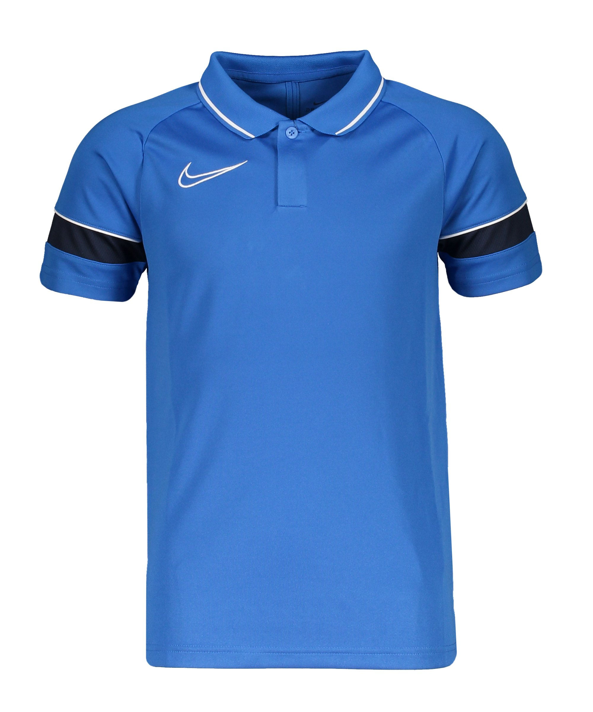 Nike Academy 21 Poloshirt Kids Blau Weiss F463 - blau