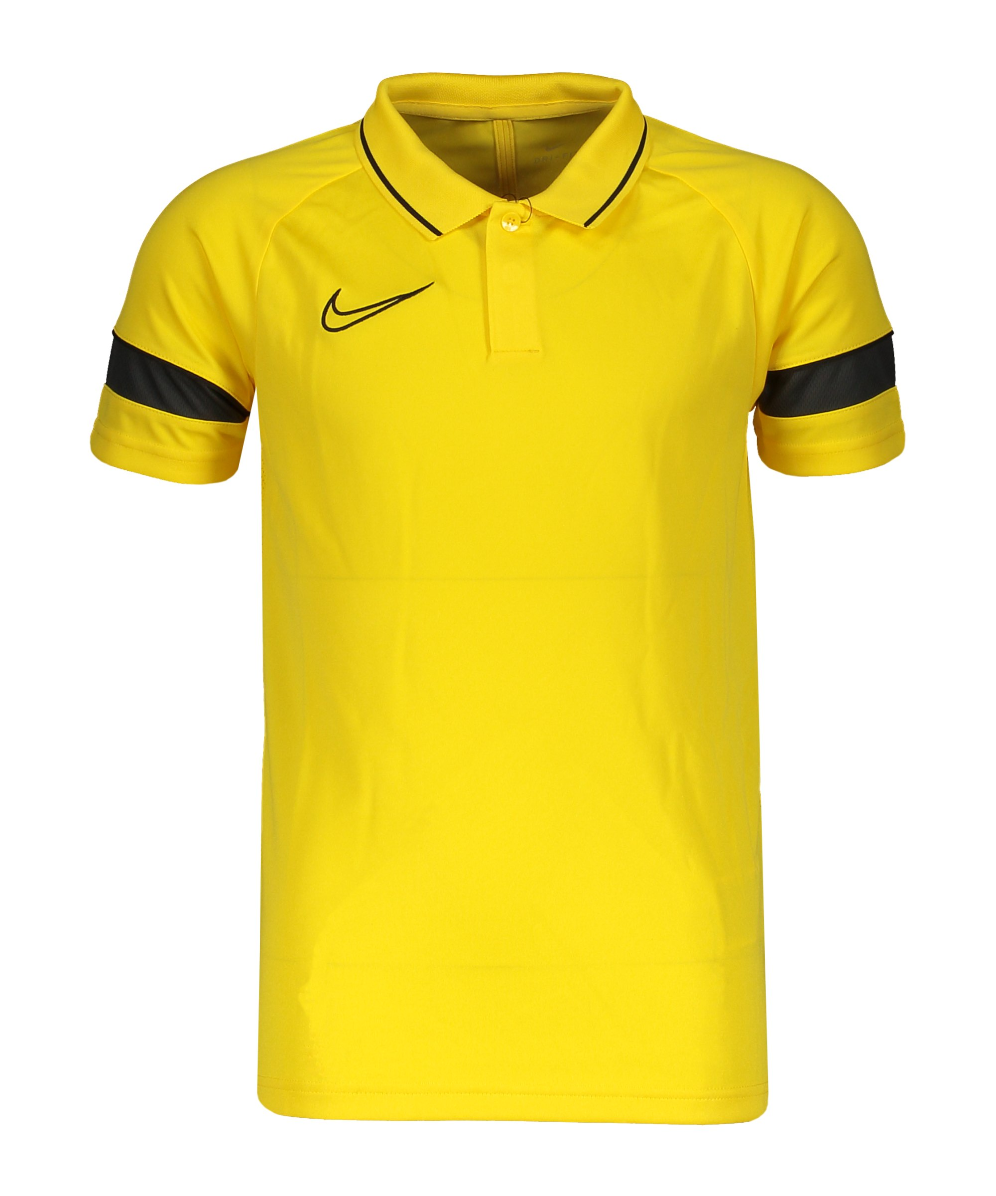 Nike Academy 21 Poloshirt Kids Gelb Schwarz F719 - gelb