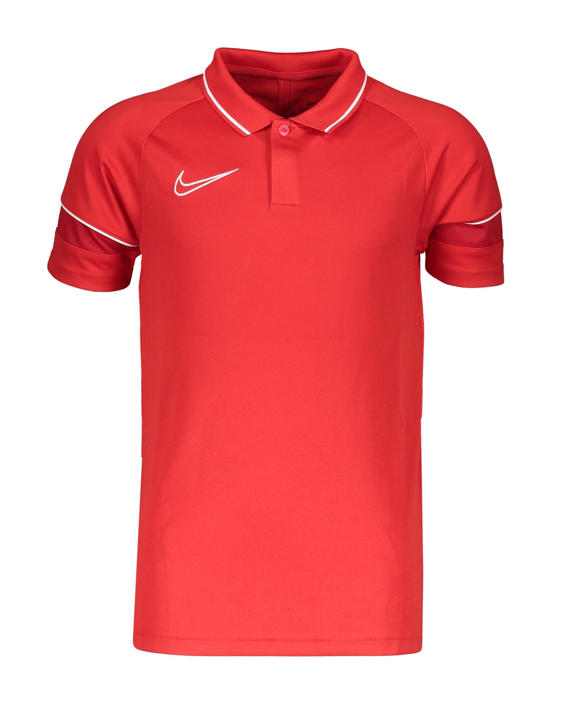 Nike Academy 21 Poloshirt Kids Rot Weiss F657 - rot