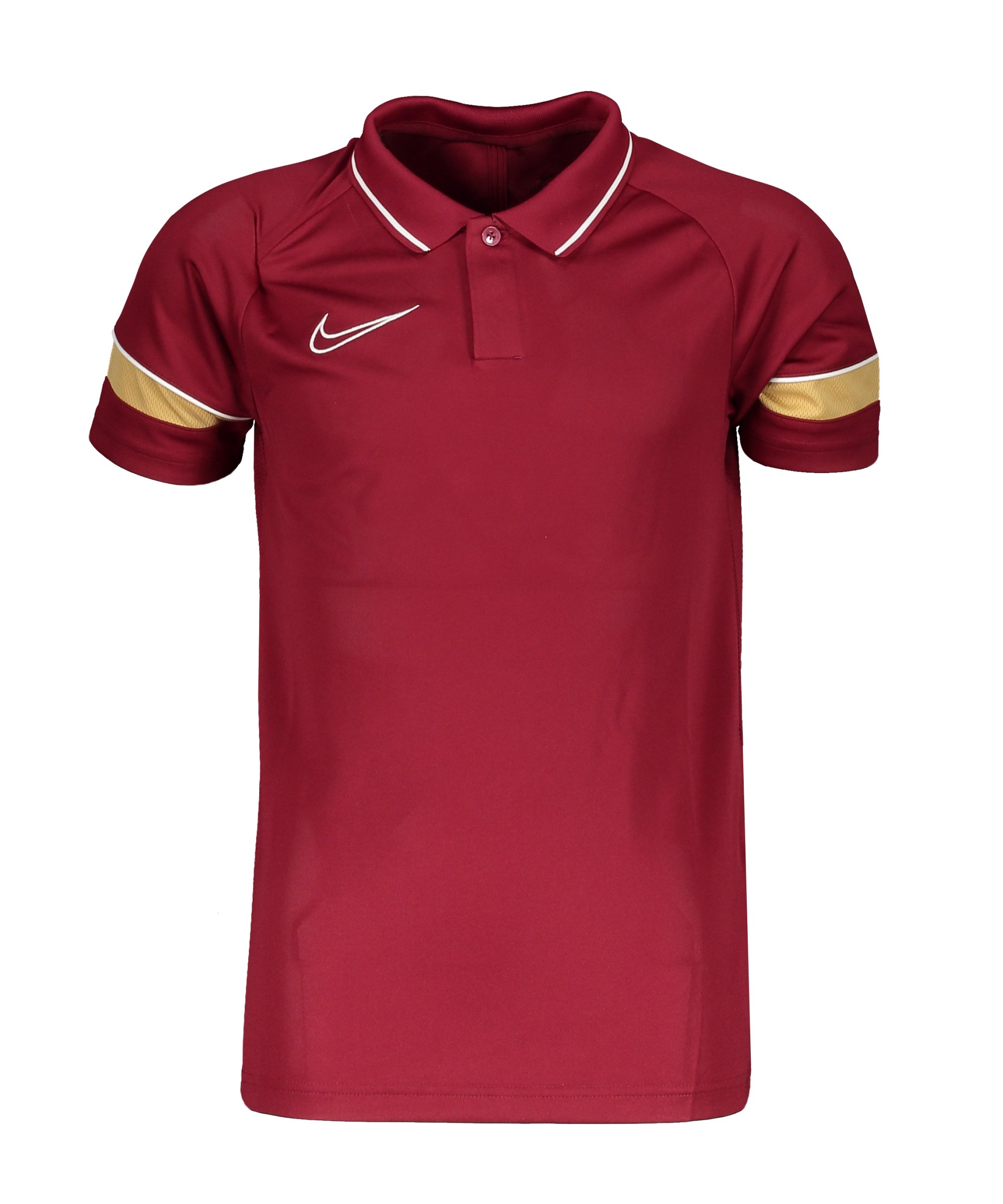 Nike Academy 21 Poloshirt Kids Rot Weiss F677 - rot