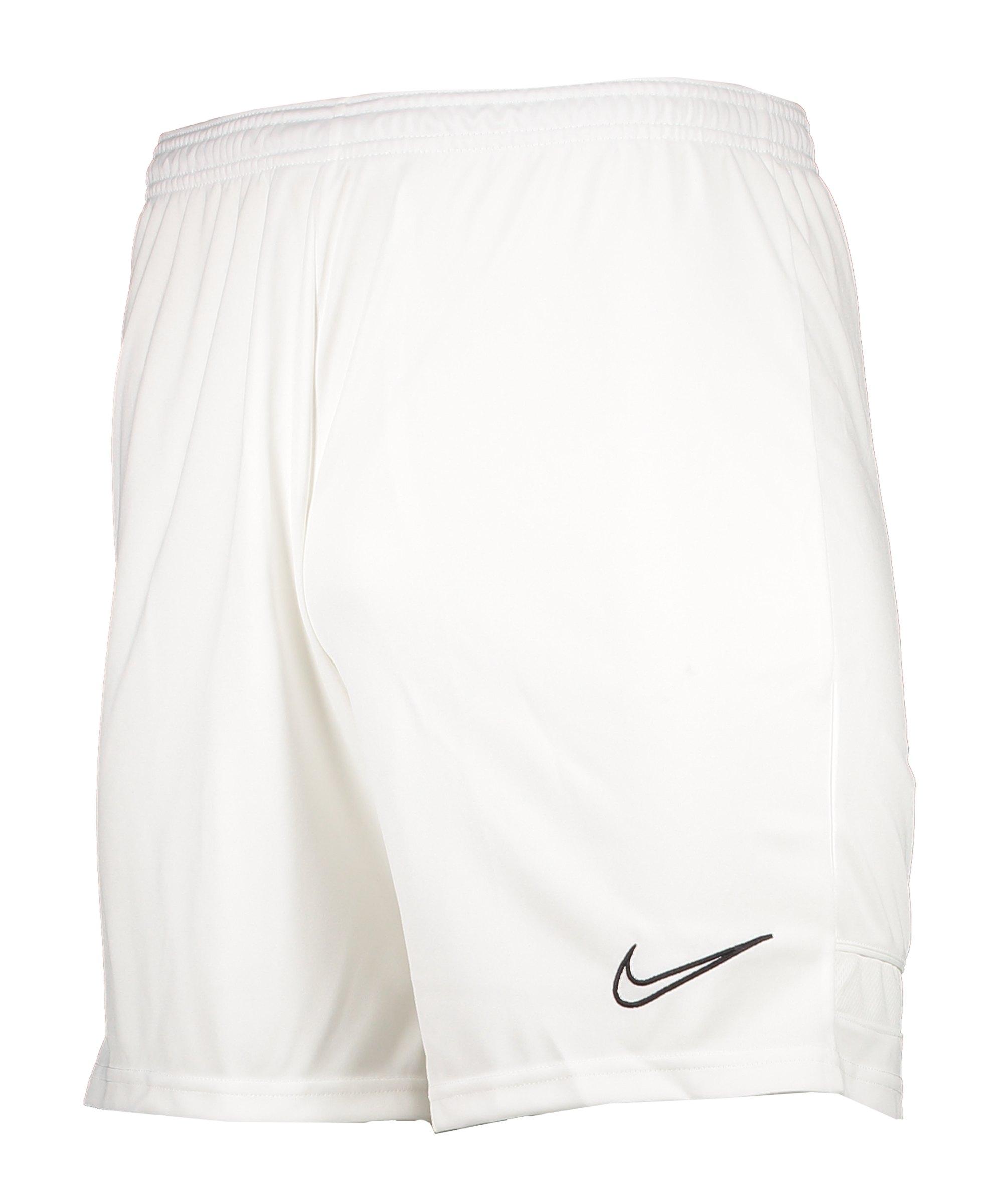Nike Academy 21 Short Weiss Schwarz F100 - weiss