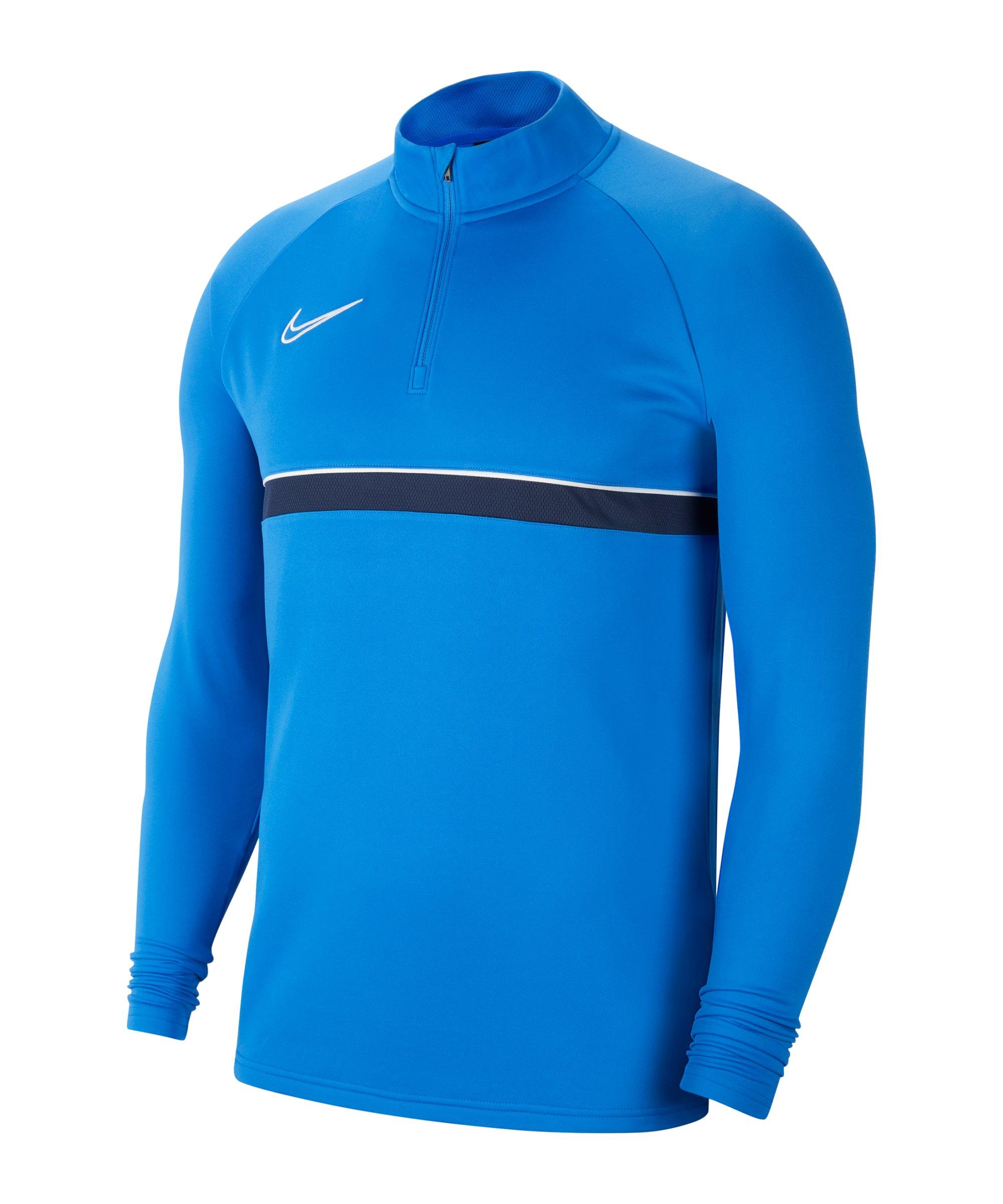 Nike Academy 21 Drill Top Blau Weiss F463 - blau