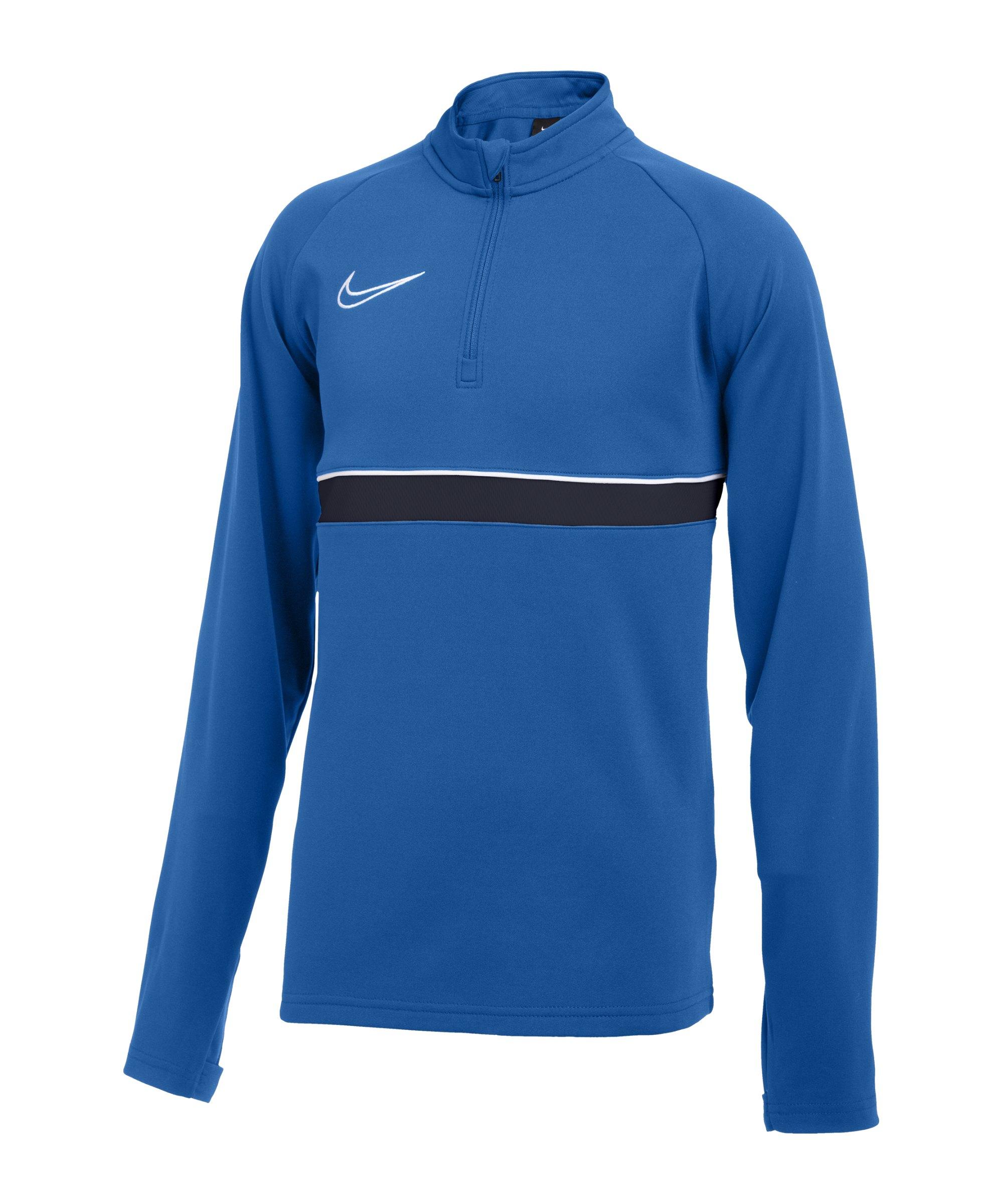 Nike Academy 21 Drill Top Kids Blau Weiss F463 - blau