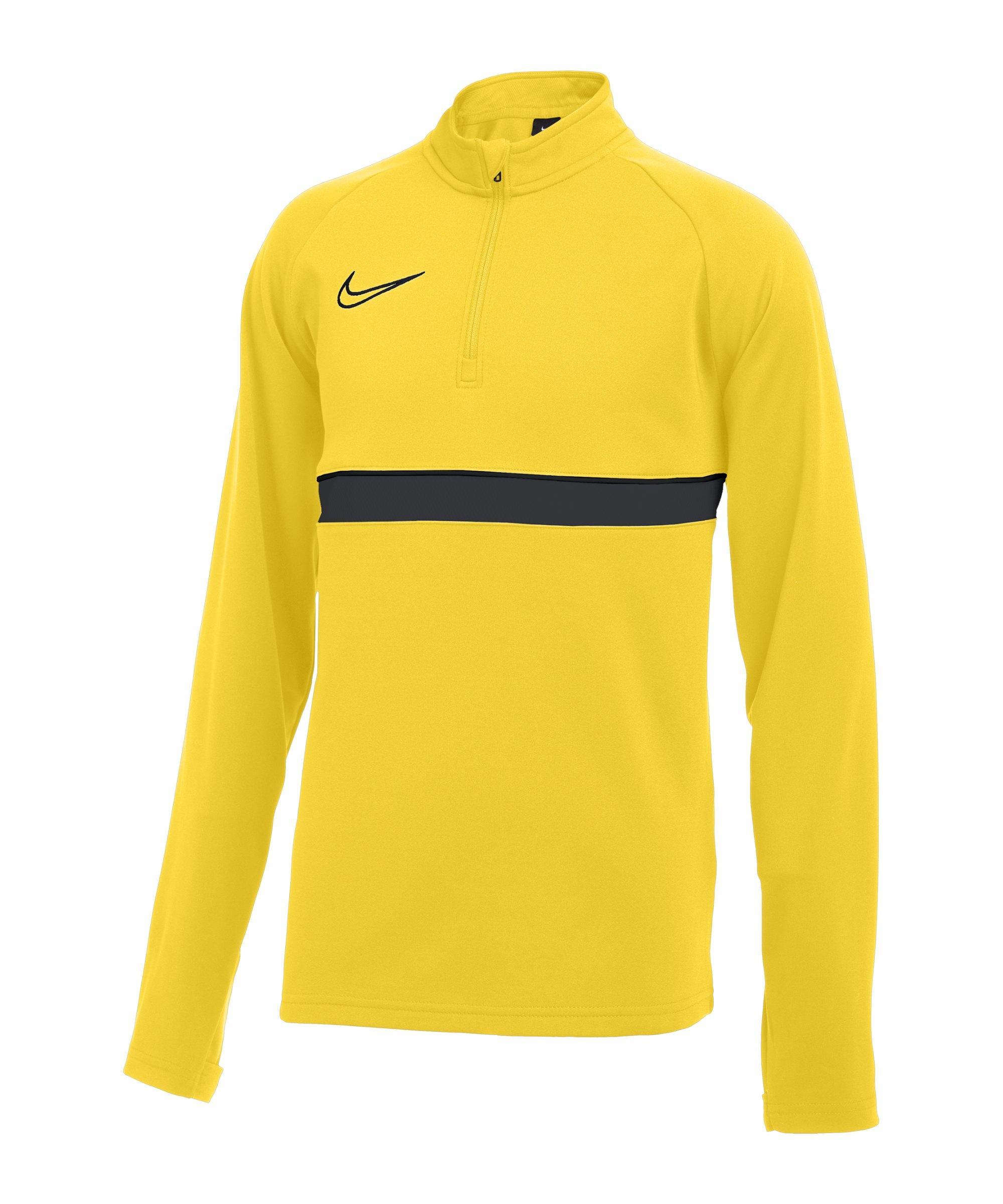 Nike Academy 21 Drill Top Kids Gelb Schwarz F719 - gelb