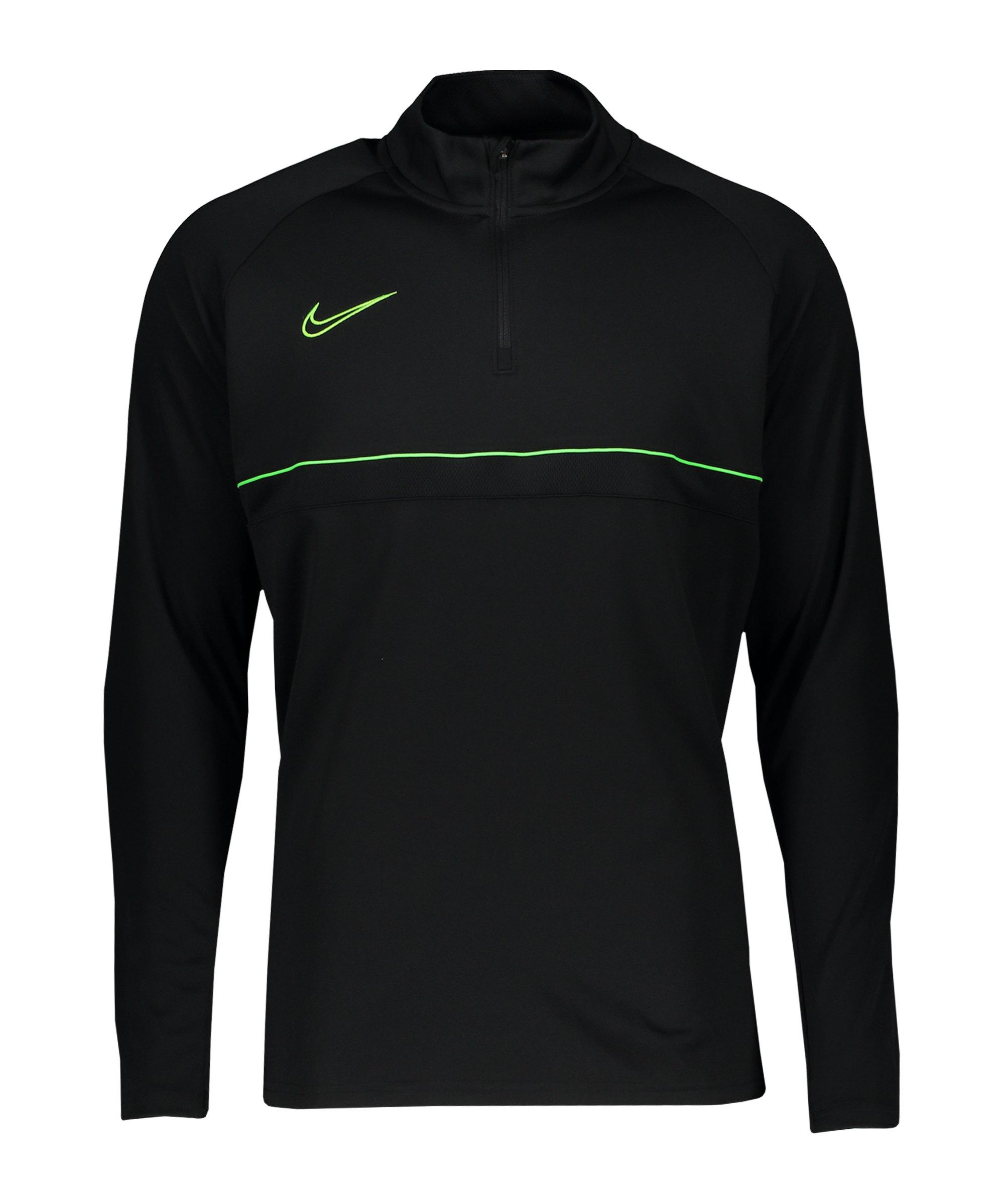 Nike Academy 21 Drill Top Kids Schwarz Grün F015 - schwarz