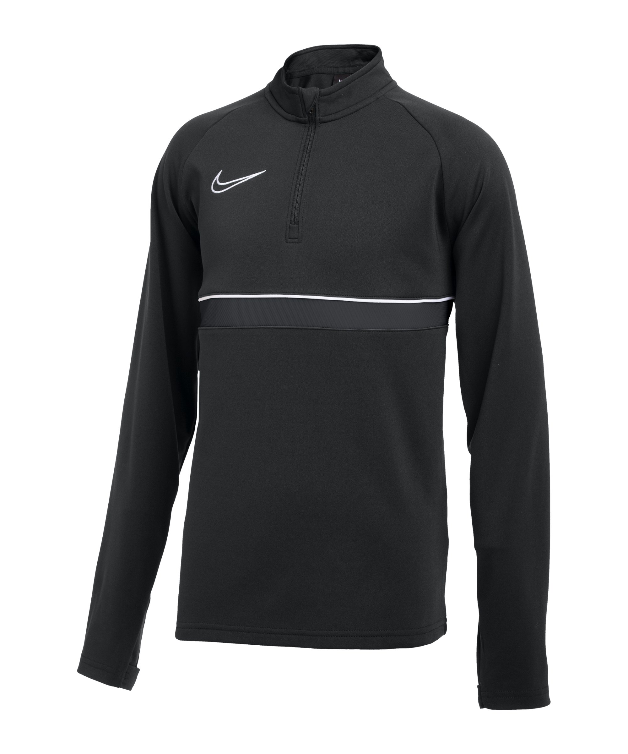 Nike Academy Drill Top Kids Schwarz Weiss F014 - schwarz