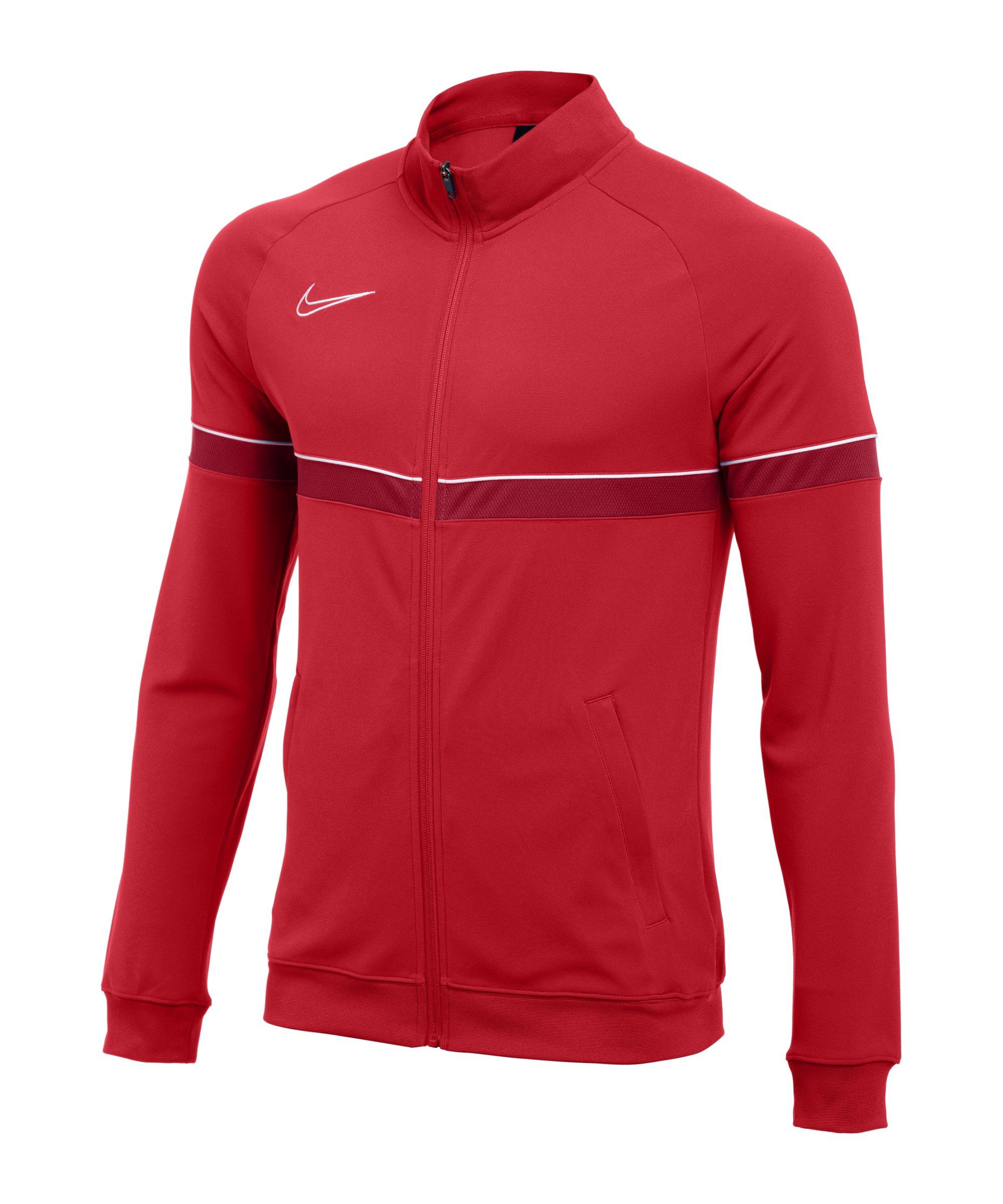 Nike Academy 21 Knit Trainingsjacke Rot F657 - rot