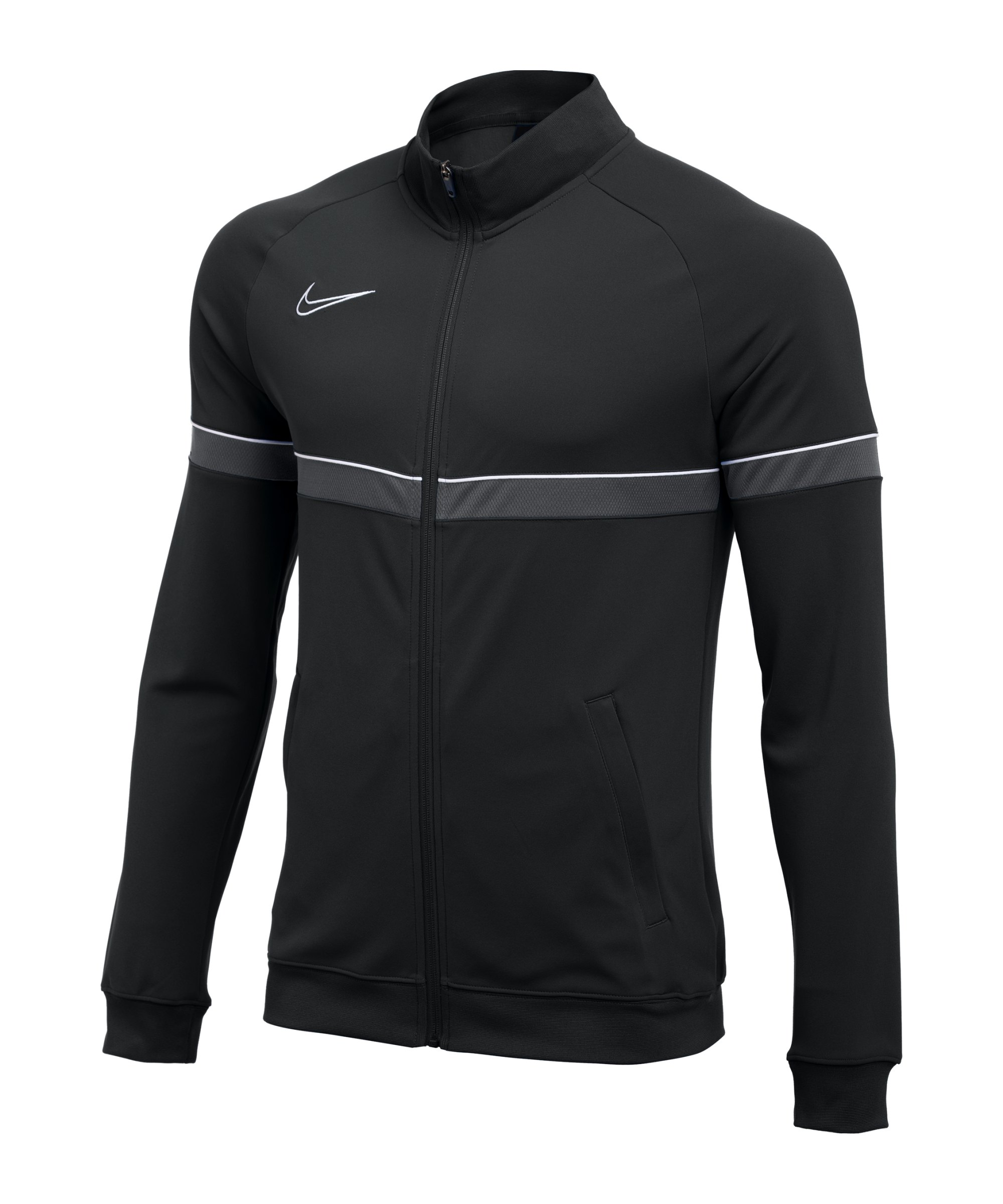 Nike Academy Knit Trainingsjacke Kids Schwarz F014 - schwarz