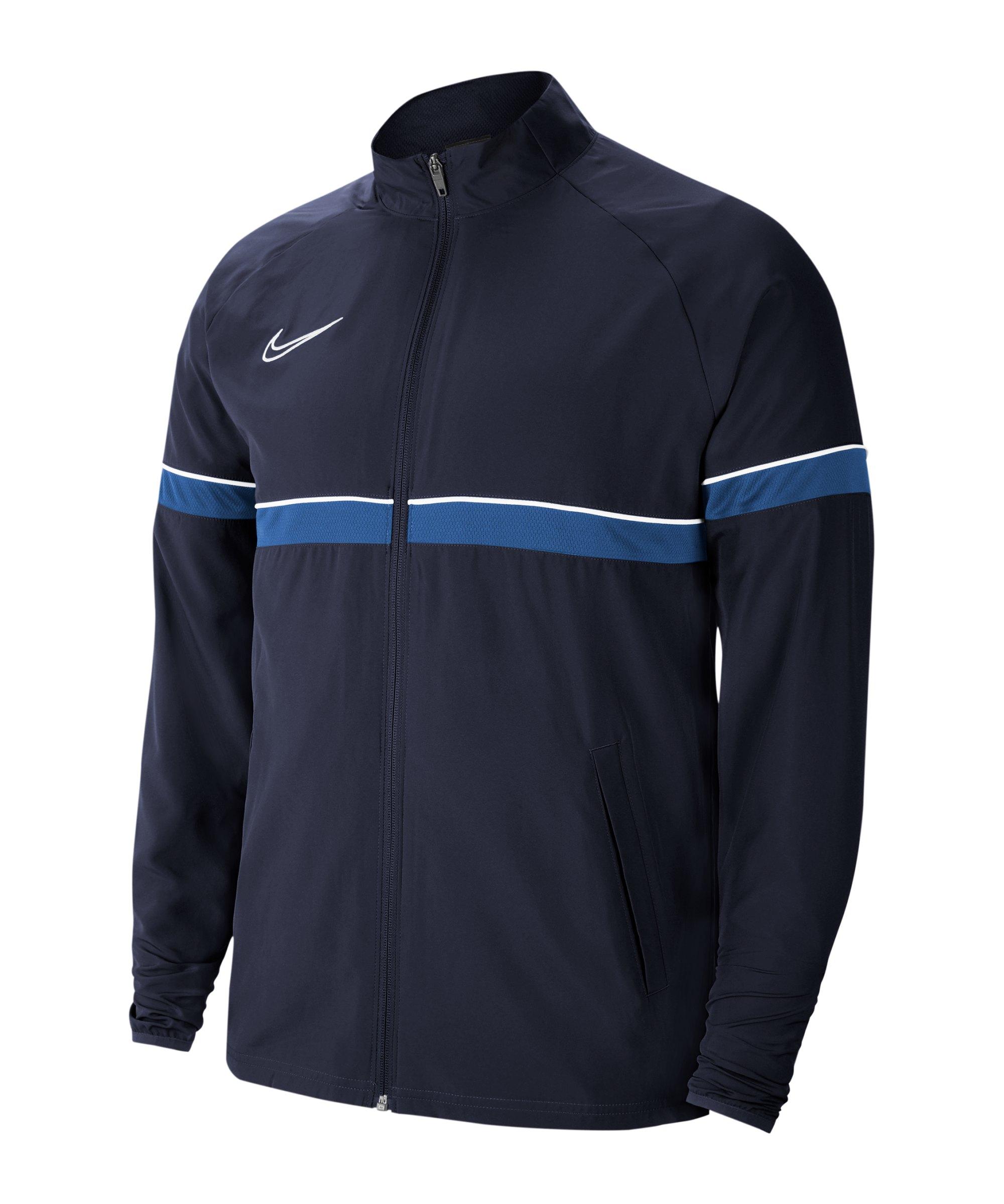 Nike Academy 21 Woven Trainingsjacke Blau F453 - blau