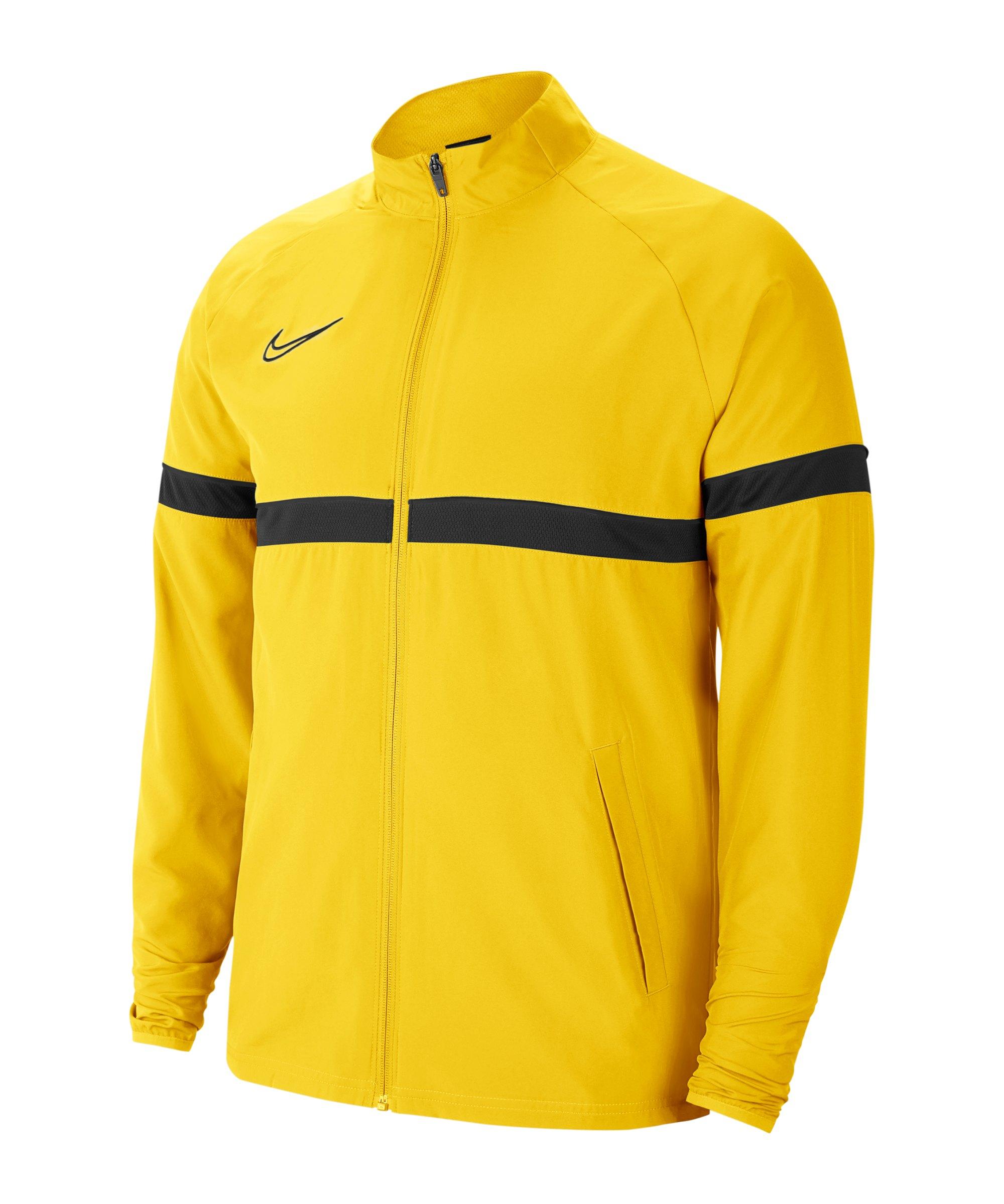 Nike Academy 21 Woven Trainingsjacke Gelb F719 - gelb