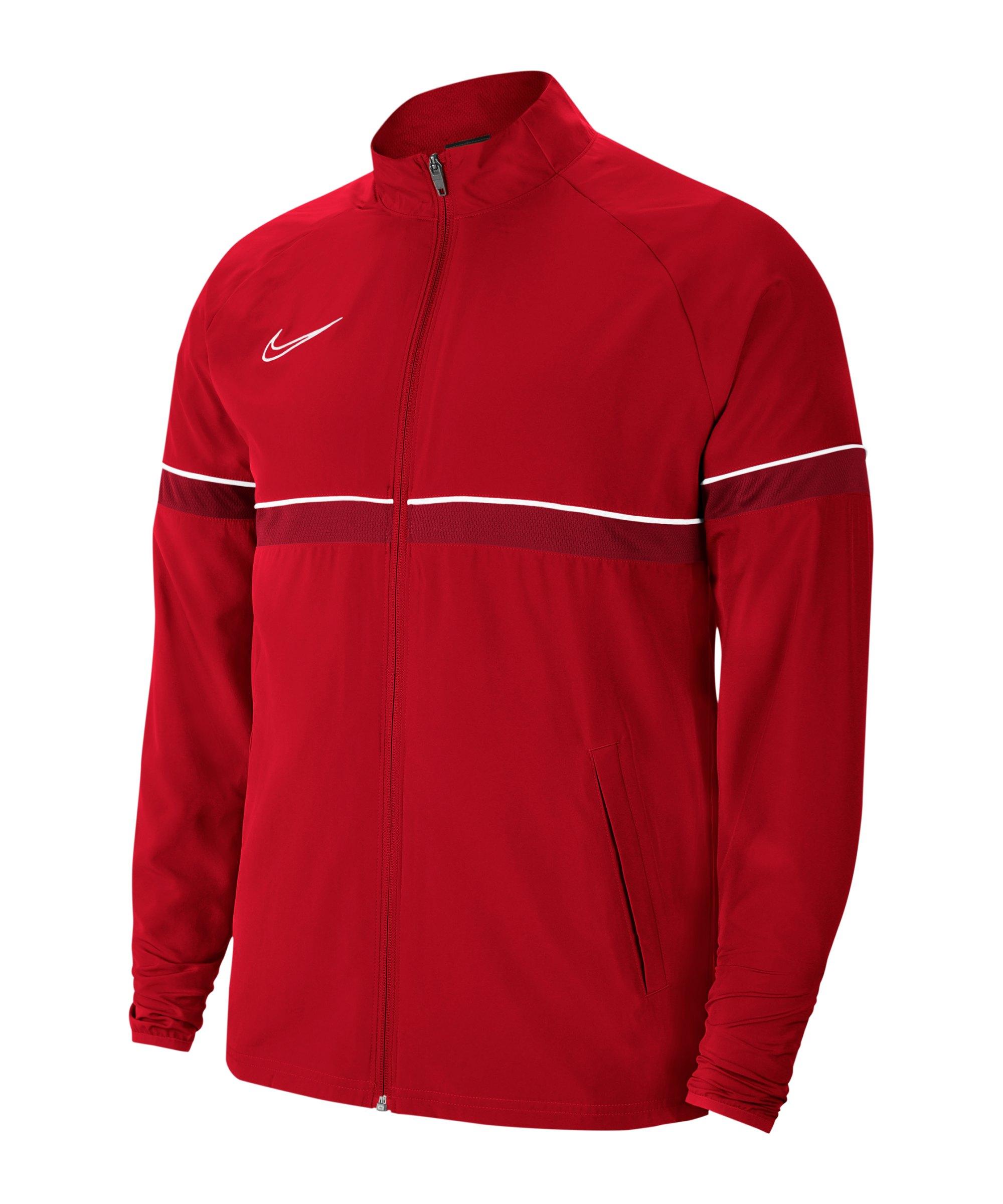 Nike Academy 21 Woven Trainingsjacke Rot F657 - rot