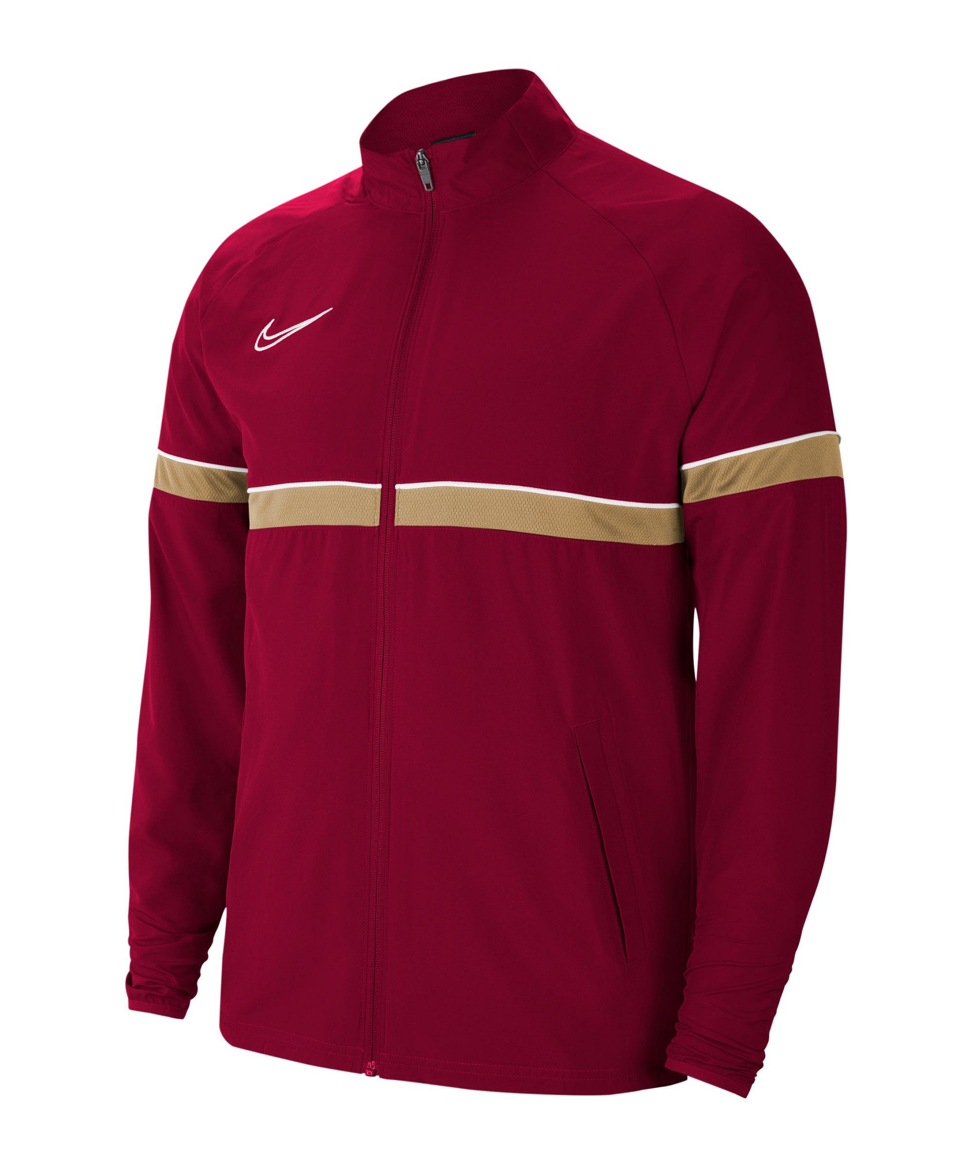 Nike Academy 21 Woven Trainingsjacke Rot F677 - rot