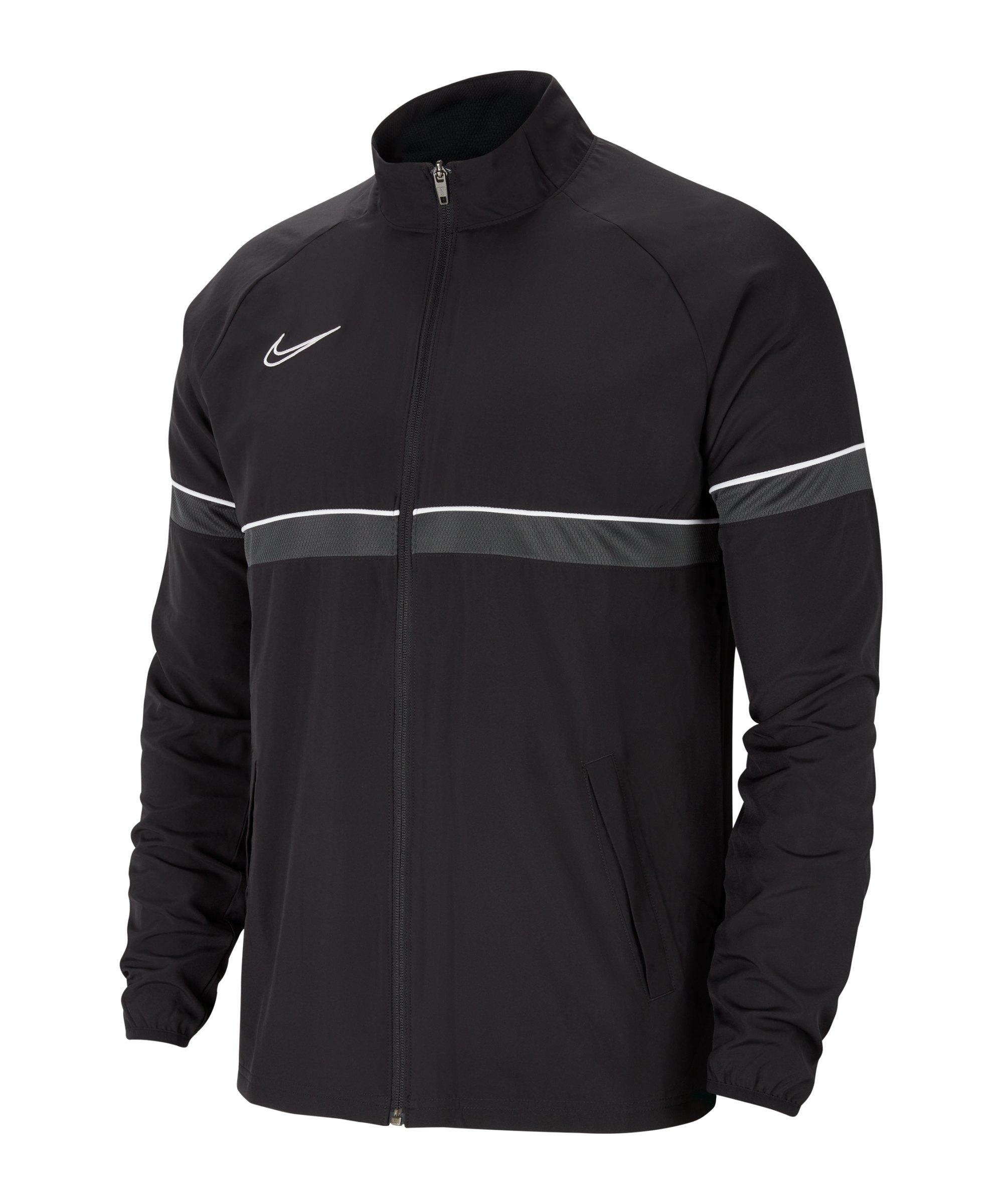 Nike Academy 21 Woven Trainingsjacke Schwarz F014 - schwarz