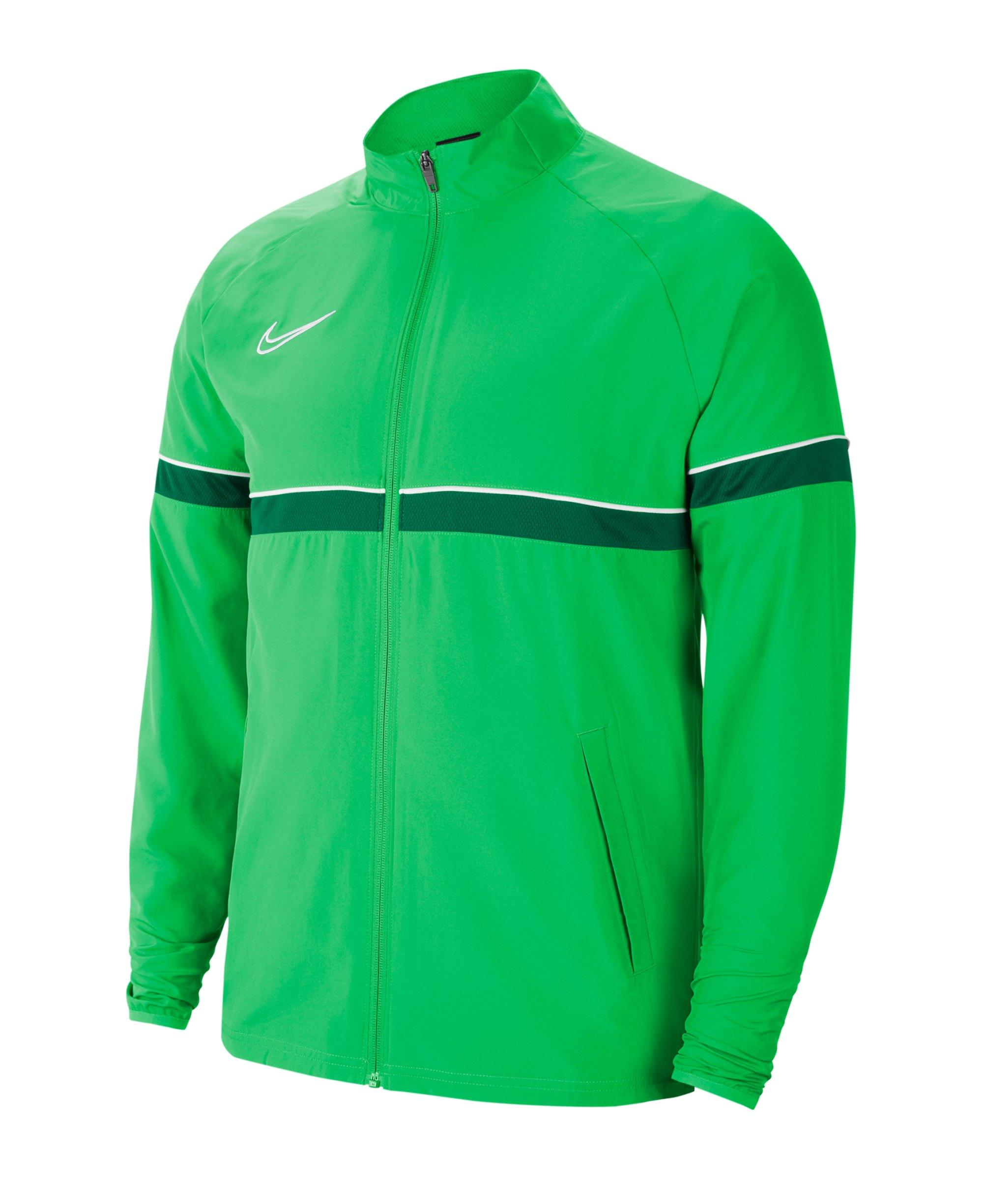 Nike Academy 21 Woven Trainingsjacke Kids F362 - gruen