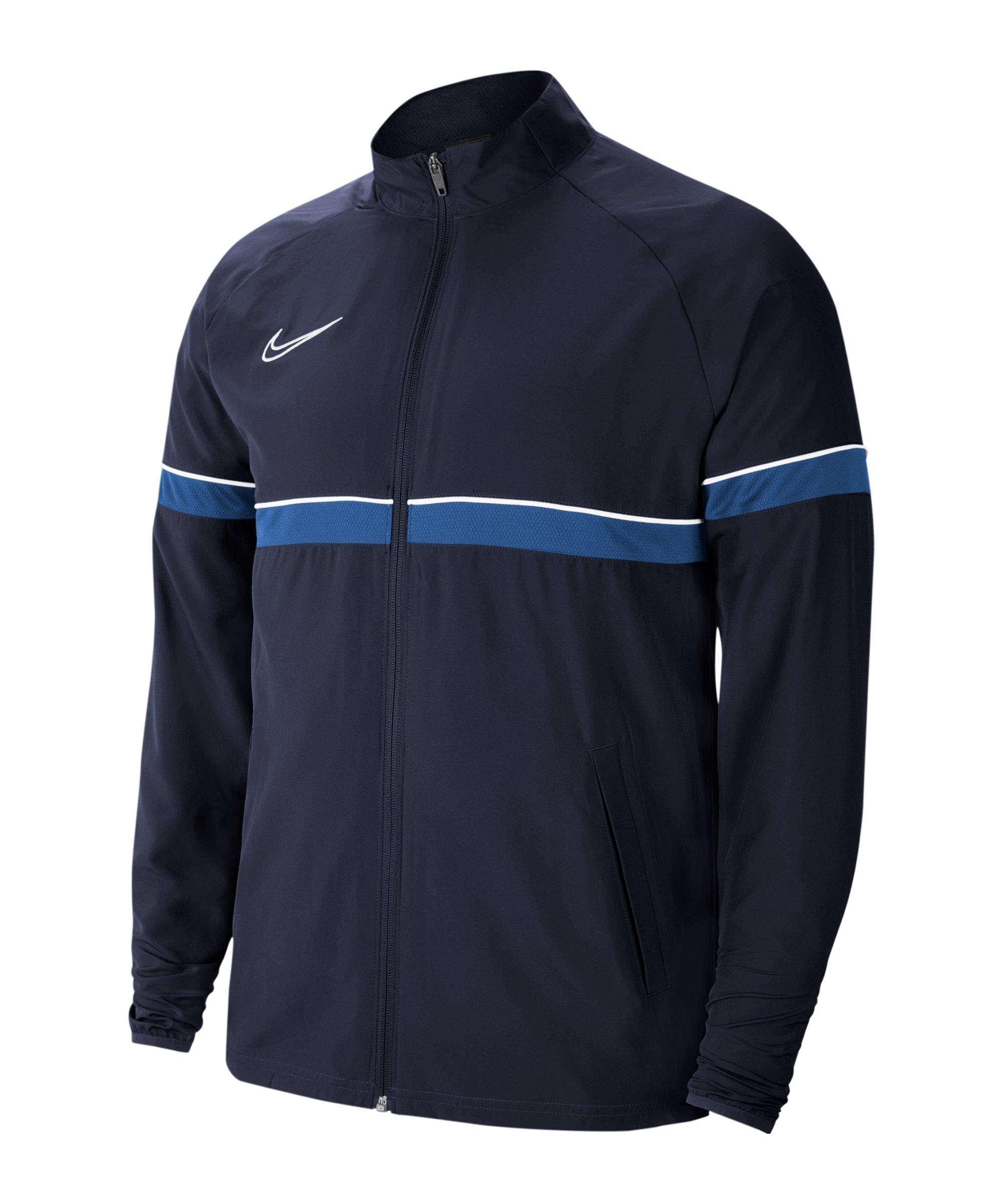 Nike Academy 21 Woven Trainingsjacke Kids F453 - blau