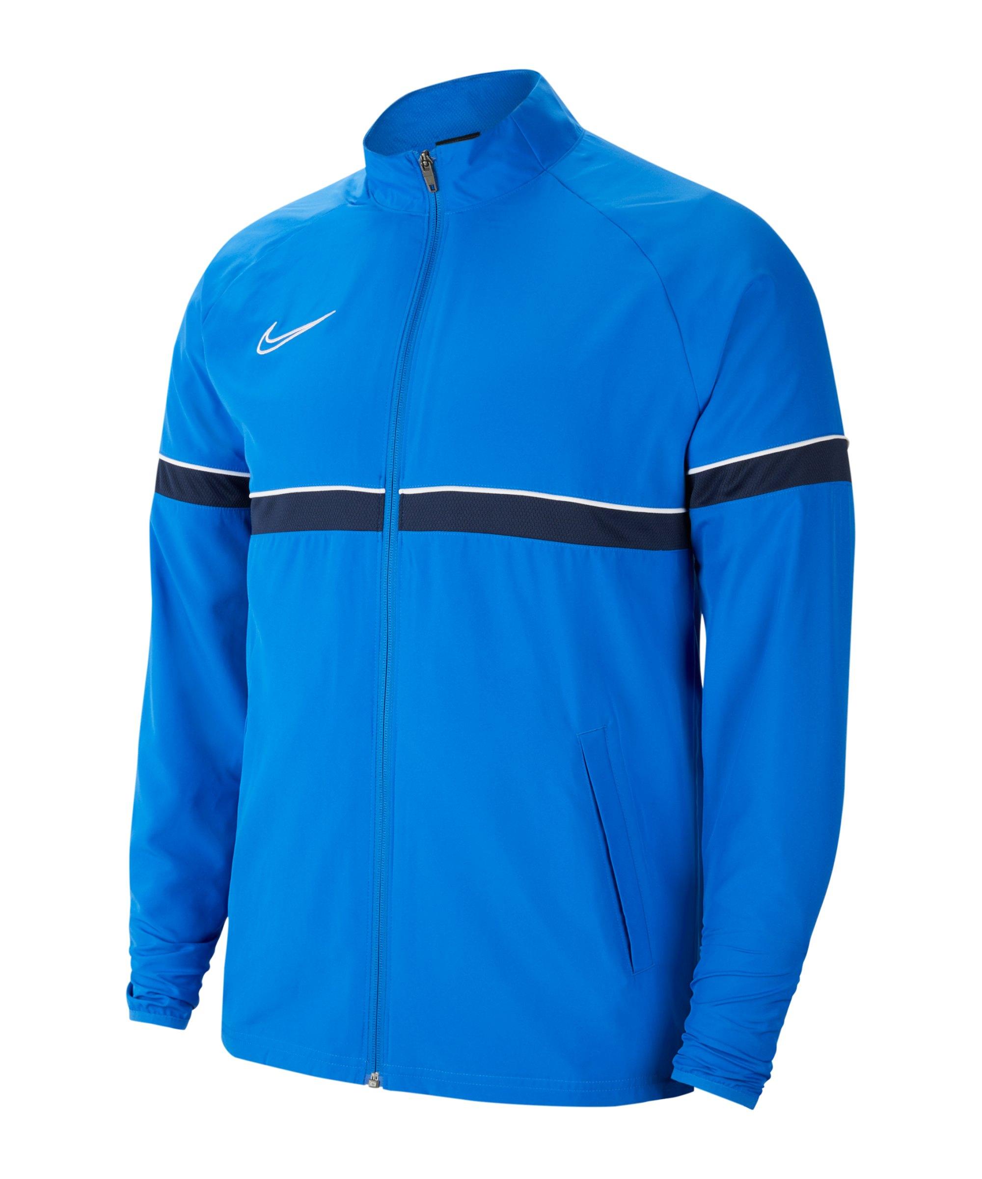 Nike Academy 21 Woven Trainingsjacke Kids F463 - blau