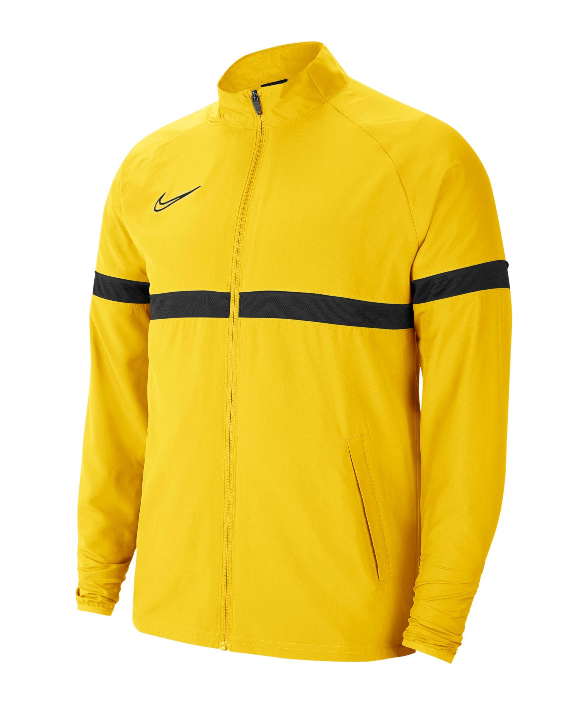 Nike Academy 21 Woven Trainingsjacke Kids F719 - gelb