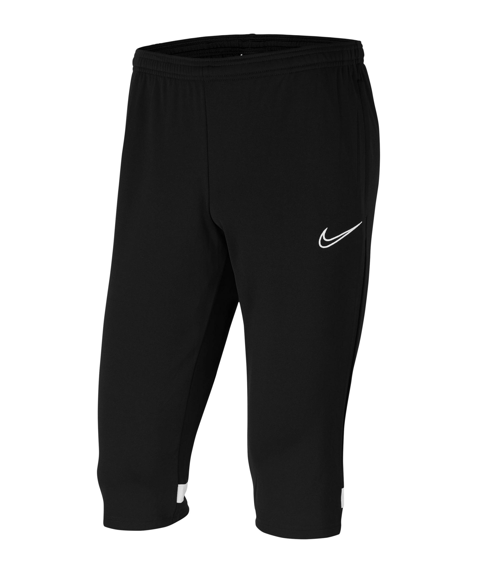 Nike Academy 21 3/4 Hose Schwarz Weiss F010 - schwarz