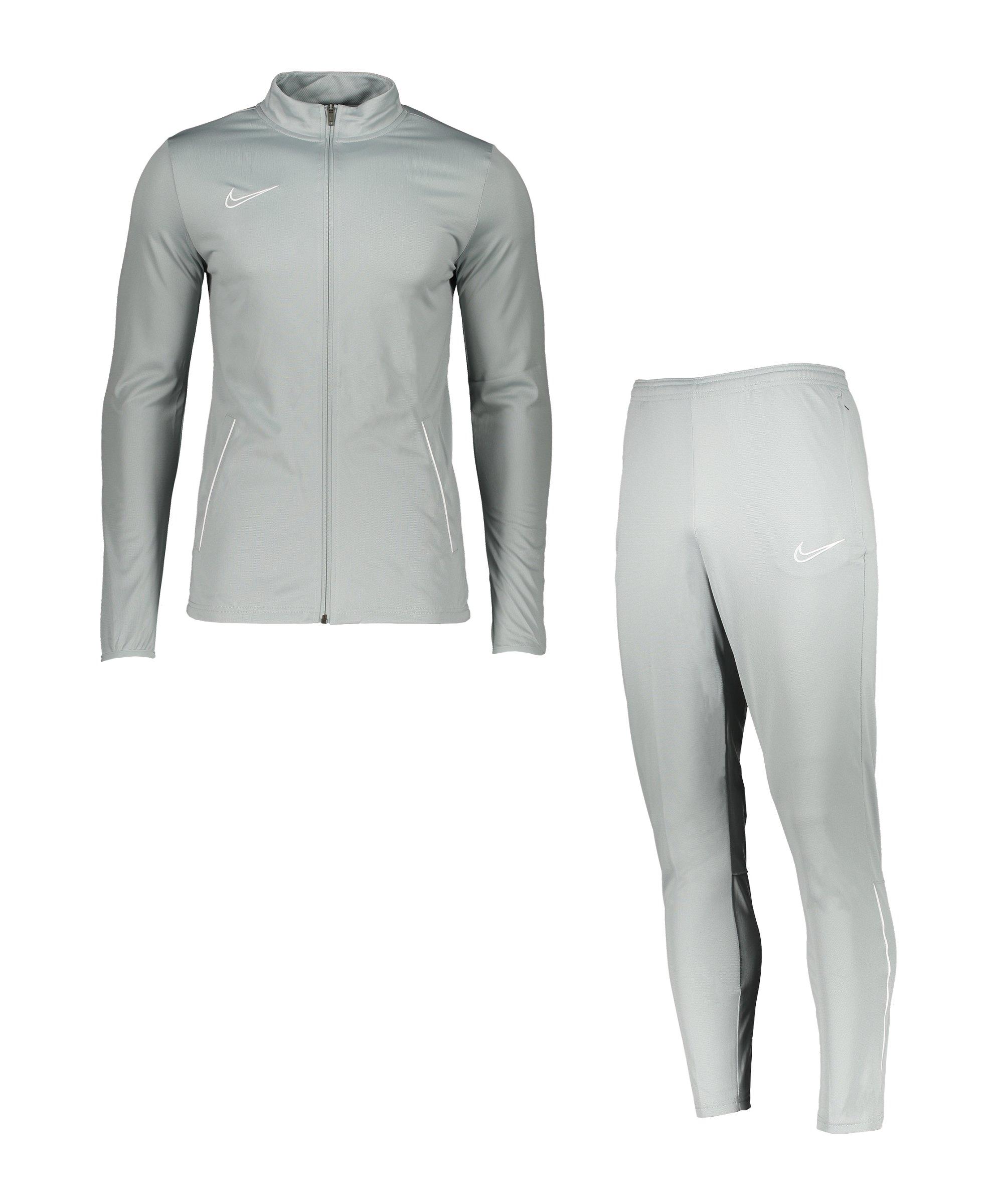 Nike Academy 21 Trainingsanzug Grau Weiss F019 - grau