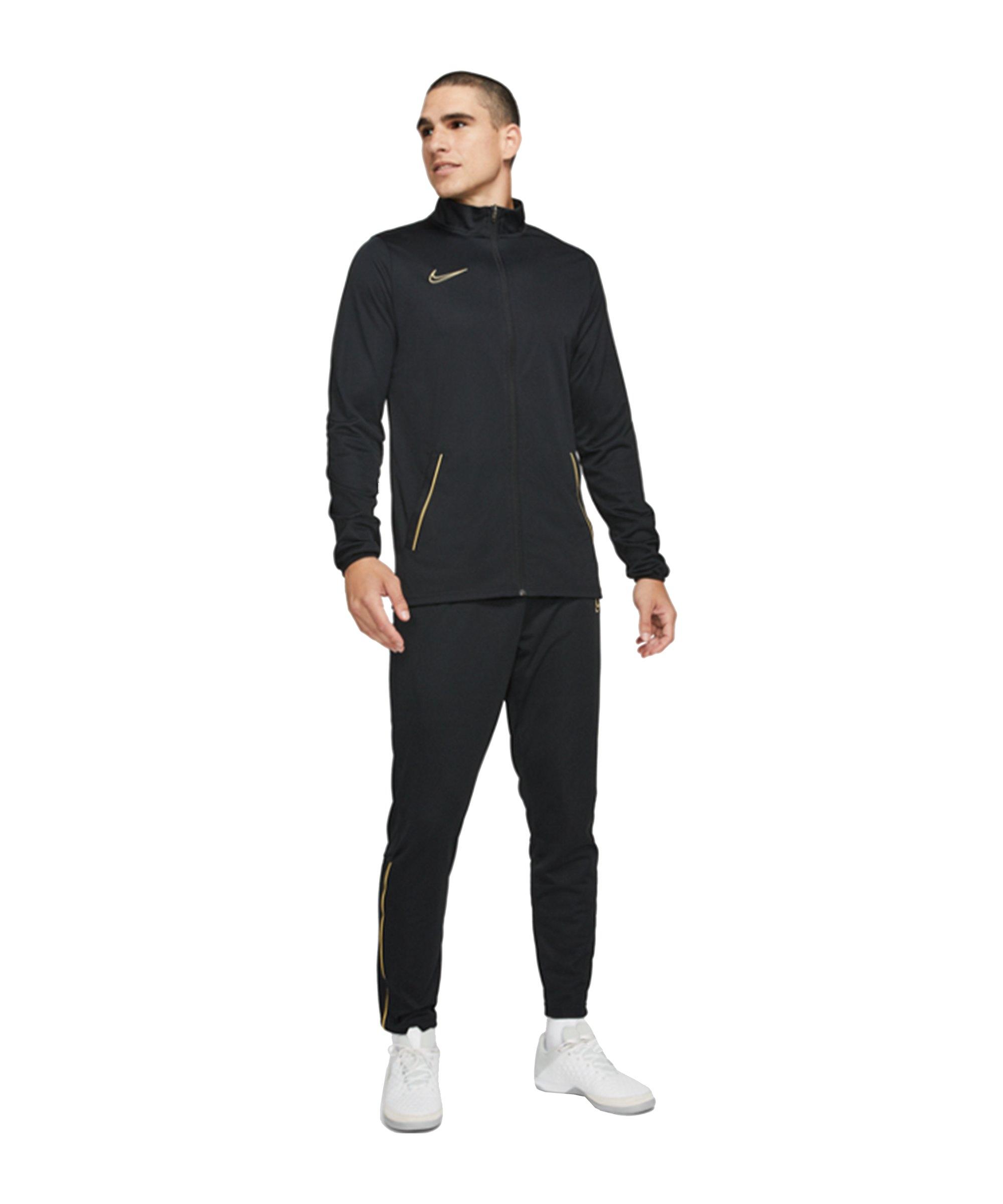 Nike Academy 21 Trainingsanzug Schwarz Gold F014 - schwarz
