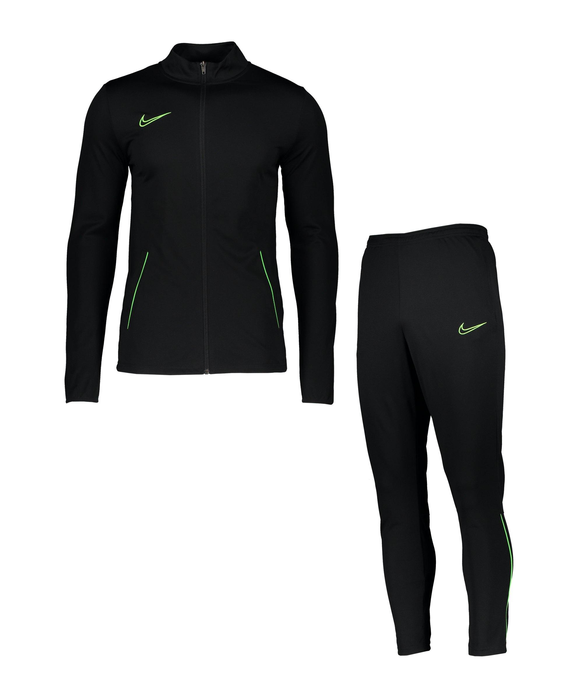 Nike Academy 21 Trainingsanzug Schwarz Grün F013 - schwarz