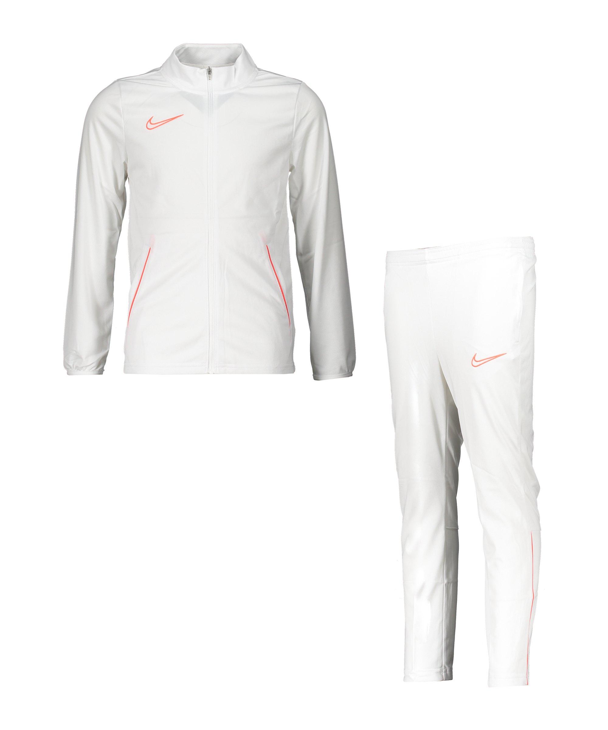 Nike Academy 21 Trainingsanzug Kids Weiss F100 - weiss