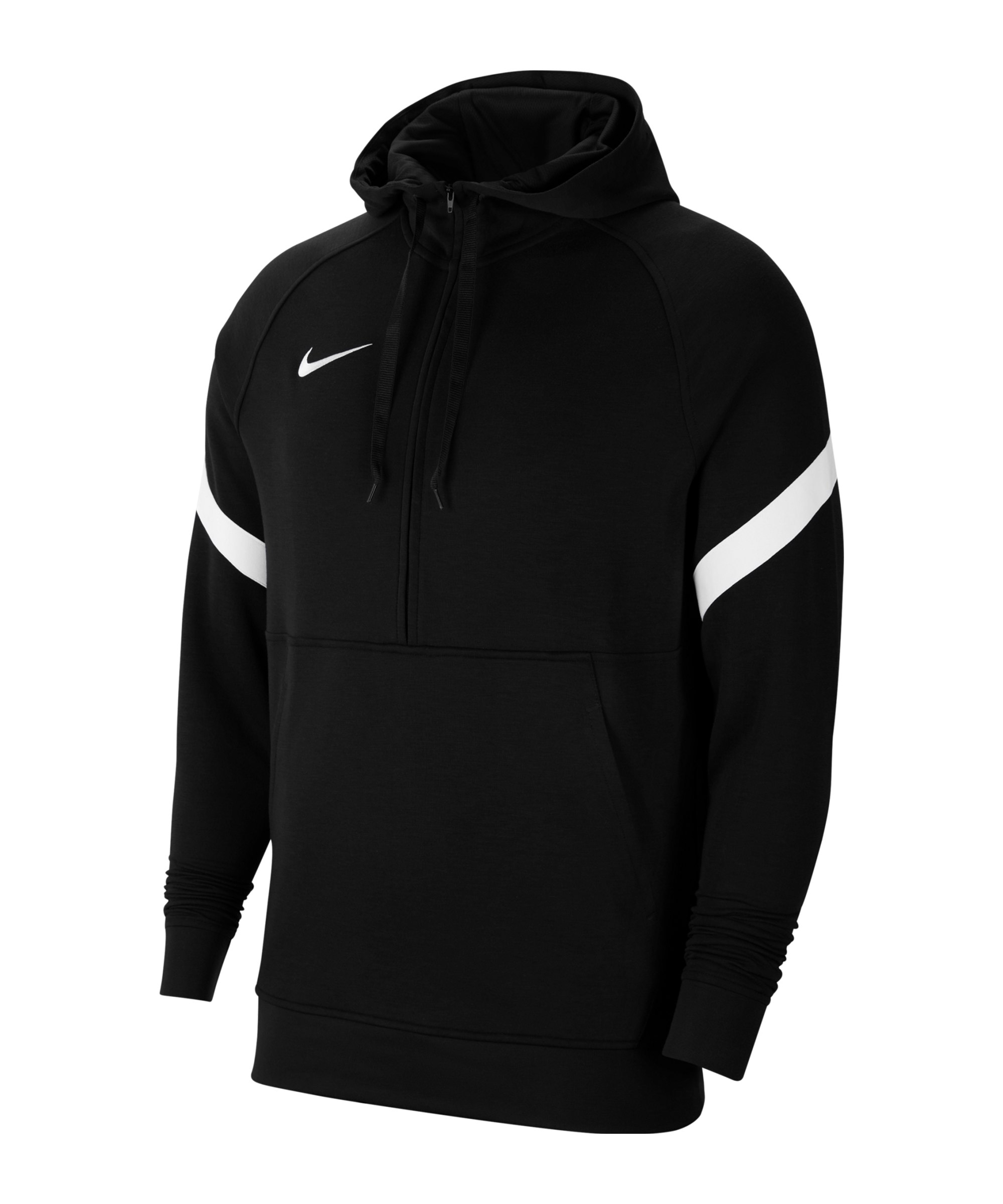 Nike Strike 21 Fleece HalfZip Hoody Schwarz F010 - schwarz