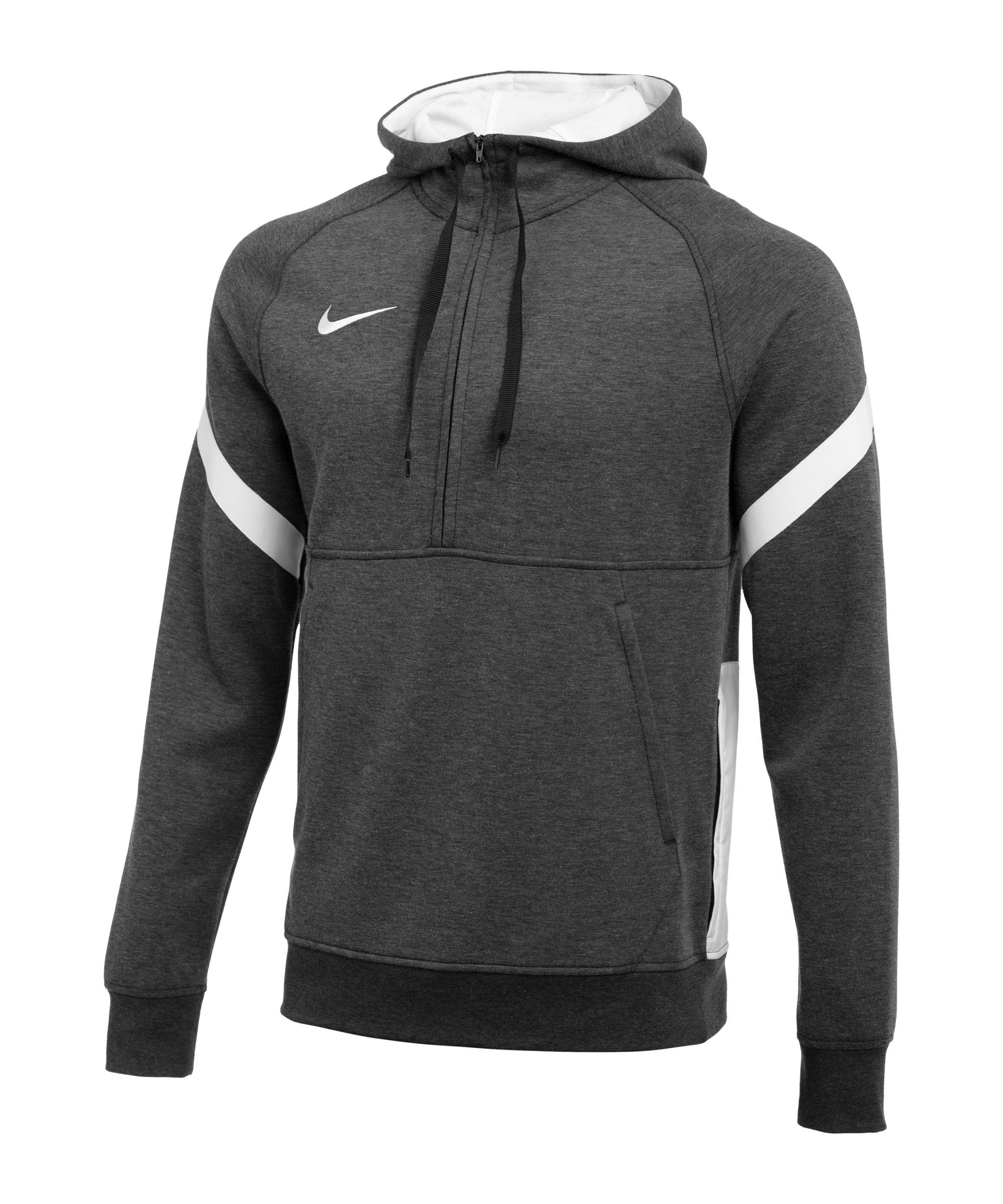 Nike Strike 21 Fleece HalfZip Hoody Schwarz F011 - grau