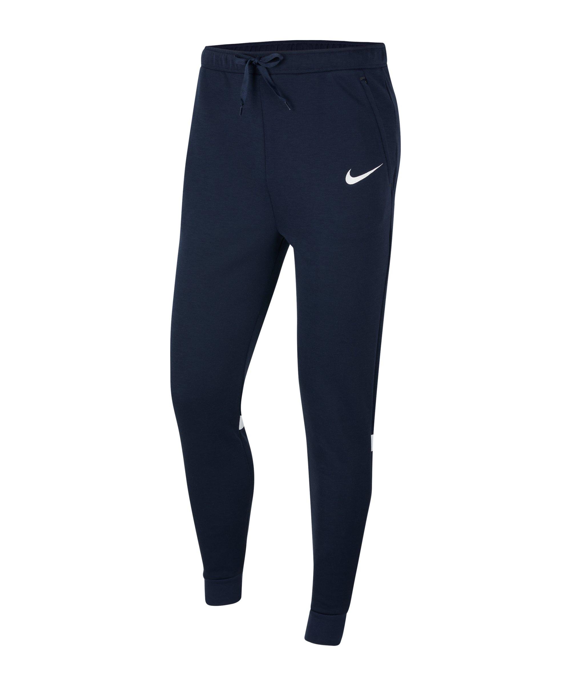 Nike Strike 21 Fleece Trainingshose Blau F451 - blau