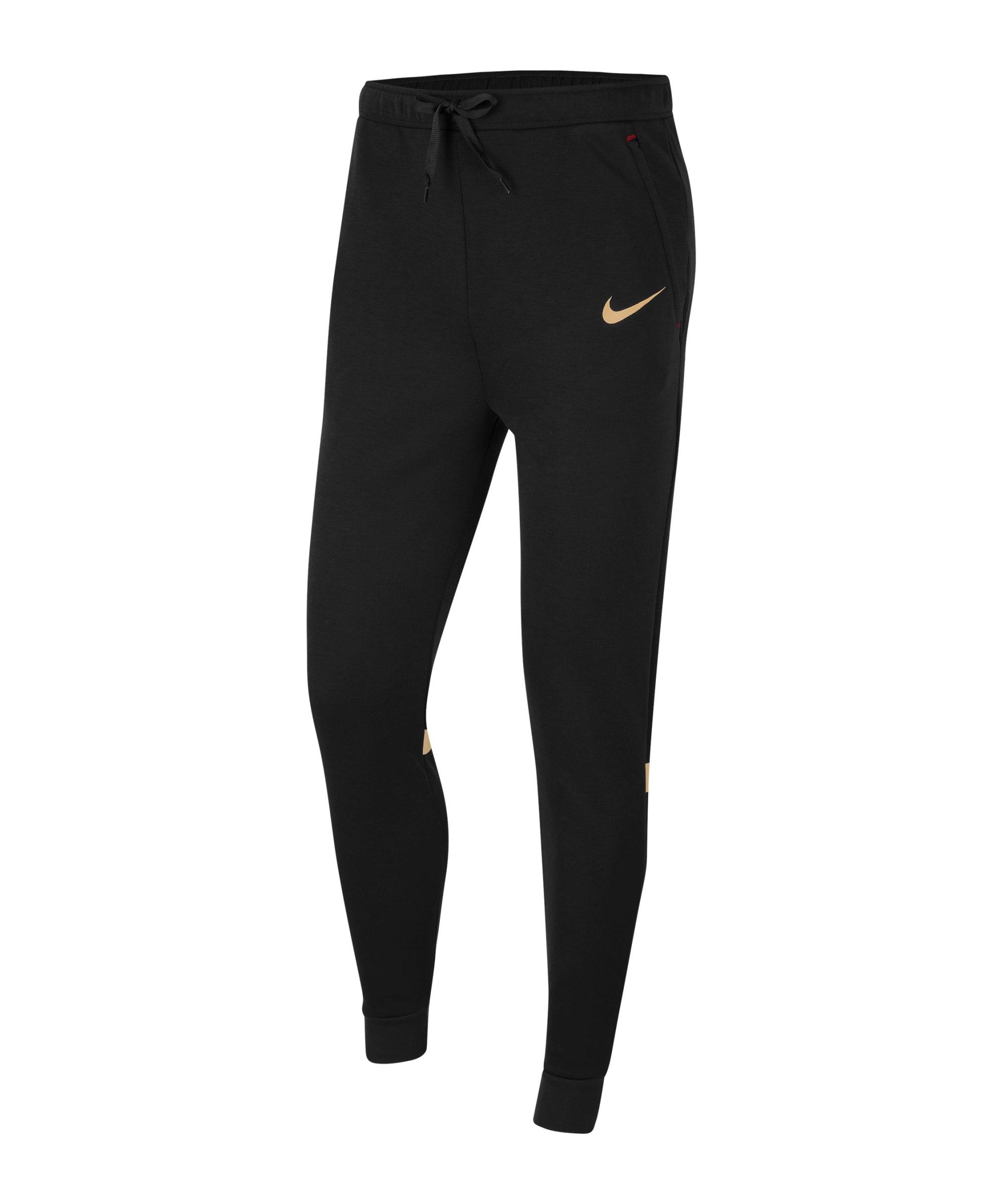 Nike Strike 21 Fleece Trainingshose Schwarz F013 - schwarz