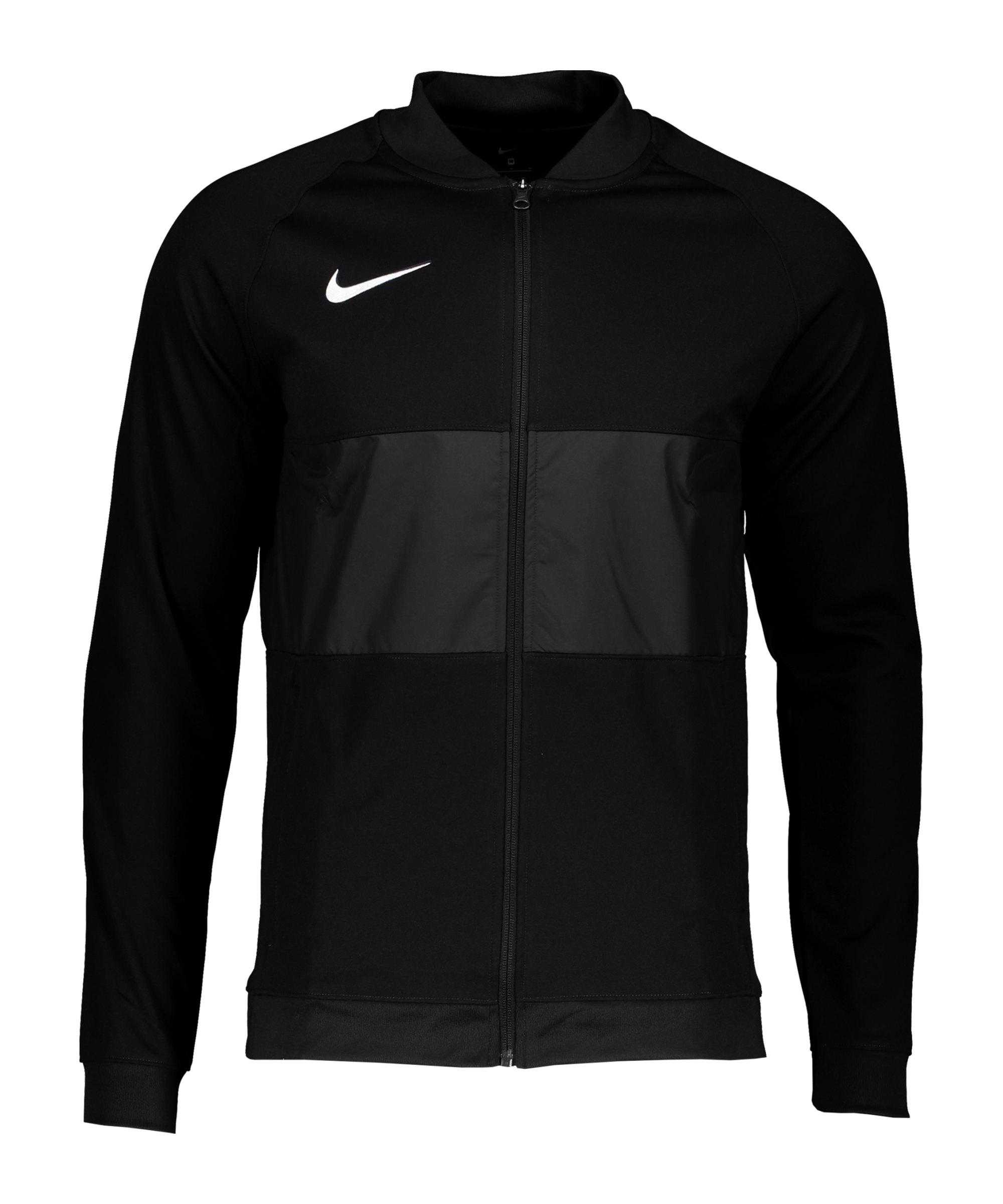 Nike Strike 21 Anthem Jacke Schwarz Weiss F010 - schwarz