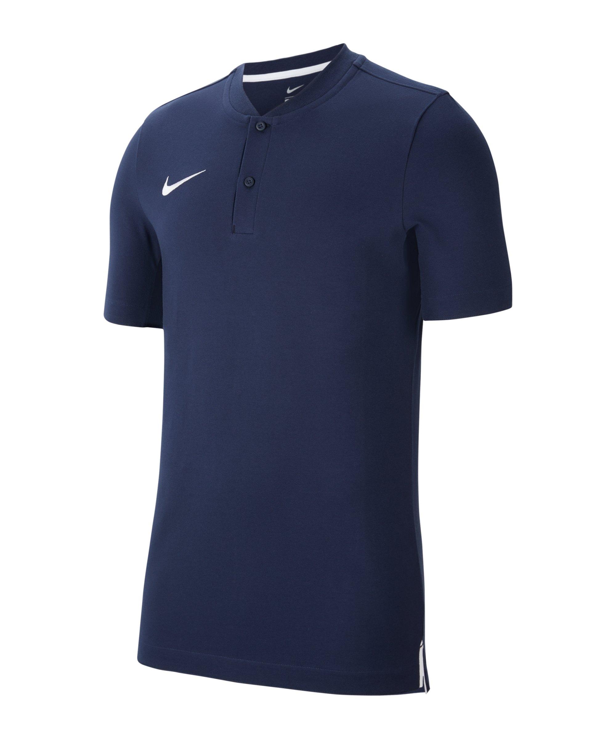 Nike Strike Poloshirt Blau Weiss F451 - blau