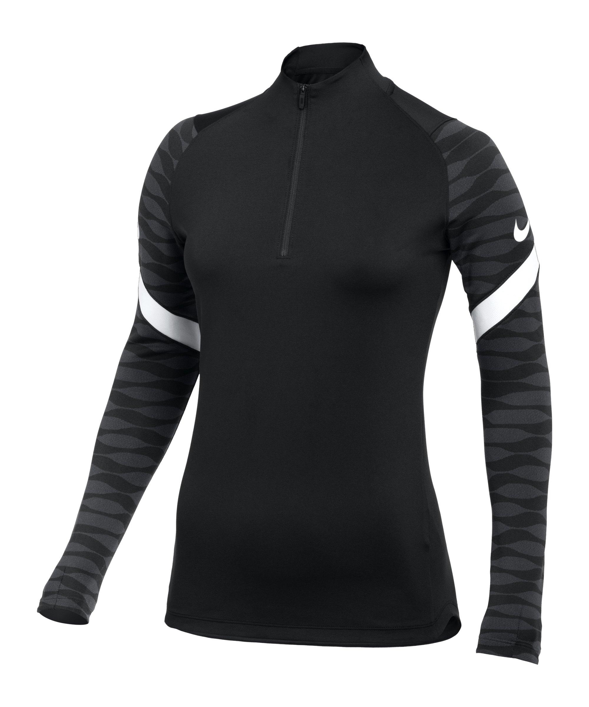 Nike Strike 21 Drill Top Damen Schwarz Weiss F010 - schwarz