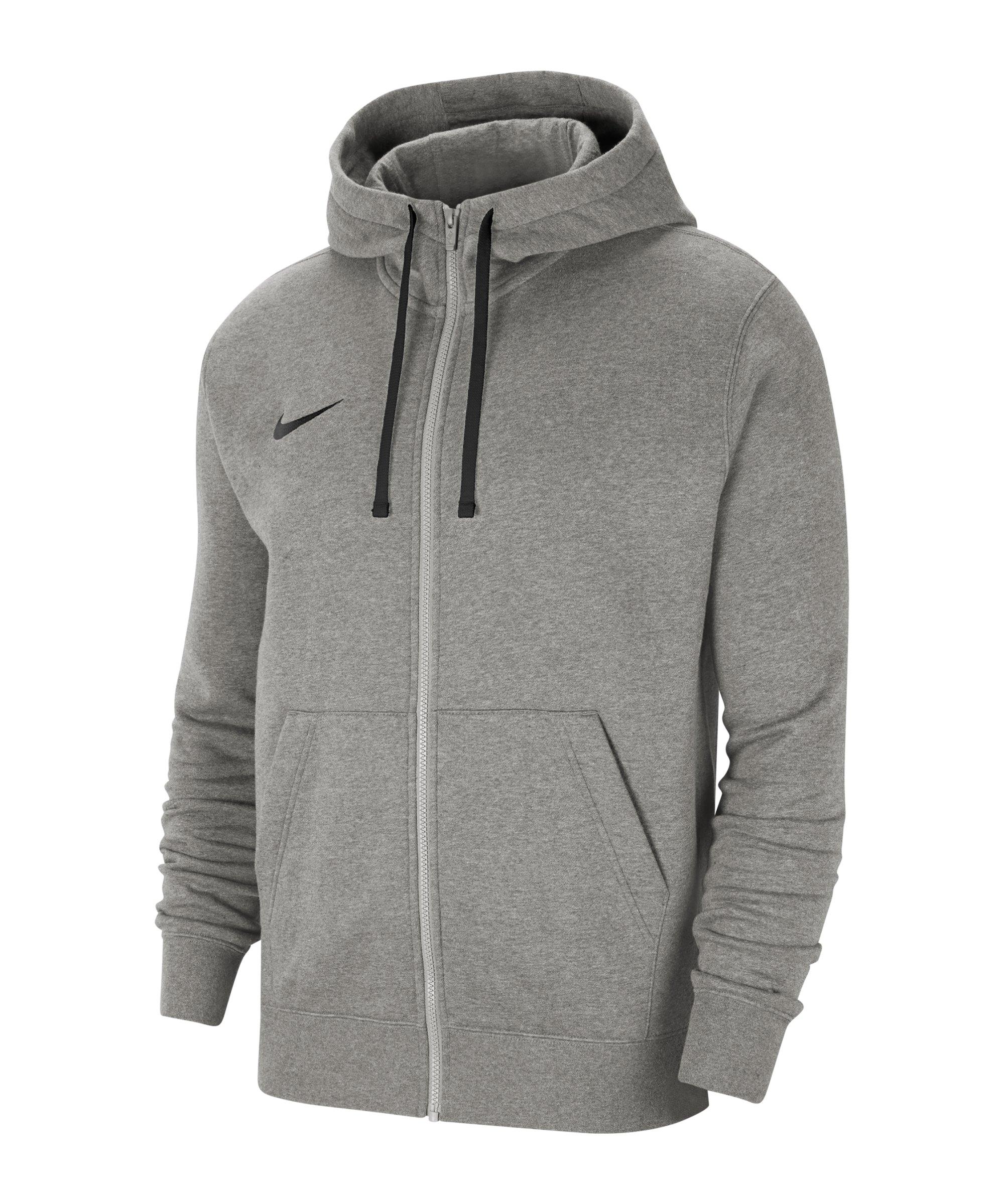 Nike Park 20 Fleece Kapuzenjacke Grau Schwarz F063 - grau