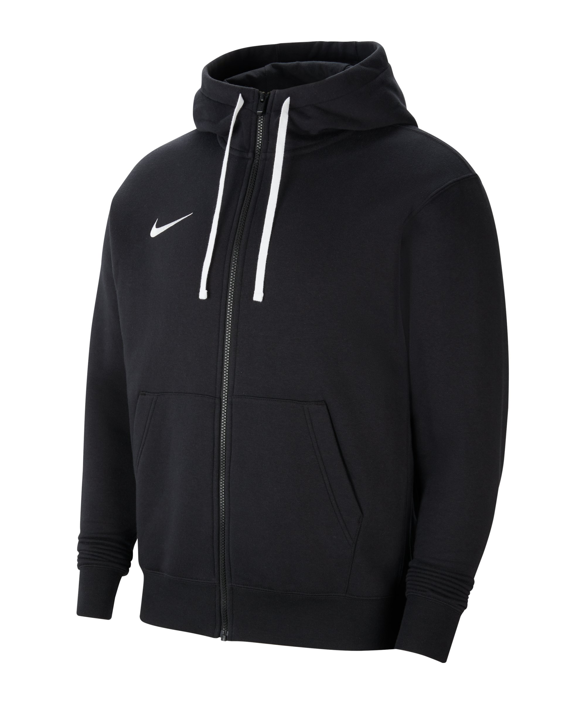 Nike Park 20 Fleece Kapuzenjacke Schwarz F010 - schwarz