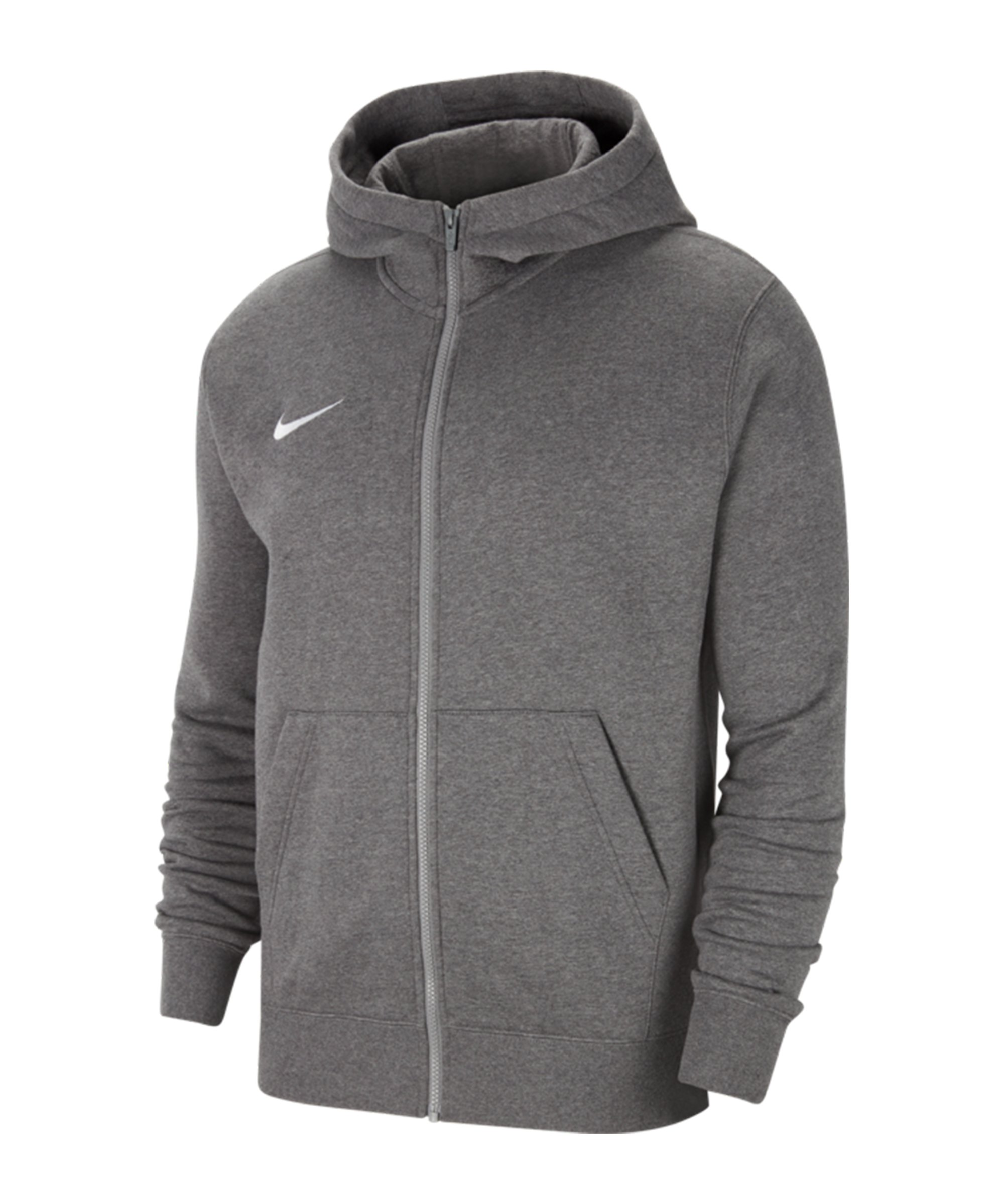 Nike Park 20 Fleece Kapuzenjacke Kids Grau F071 - grau