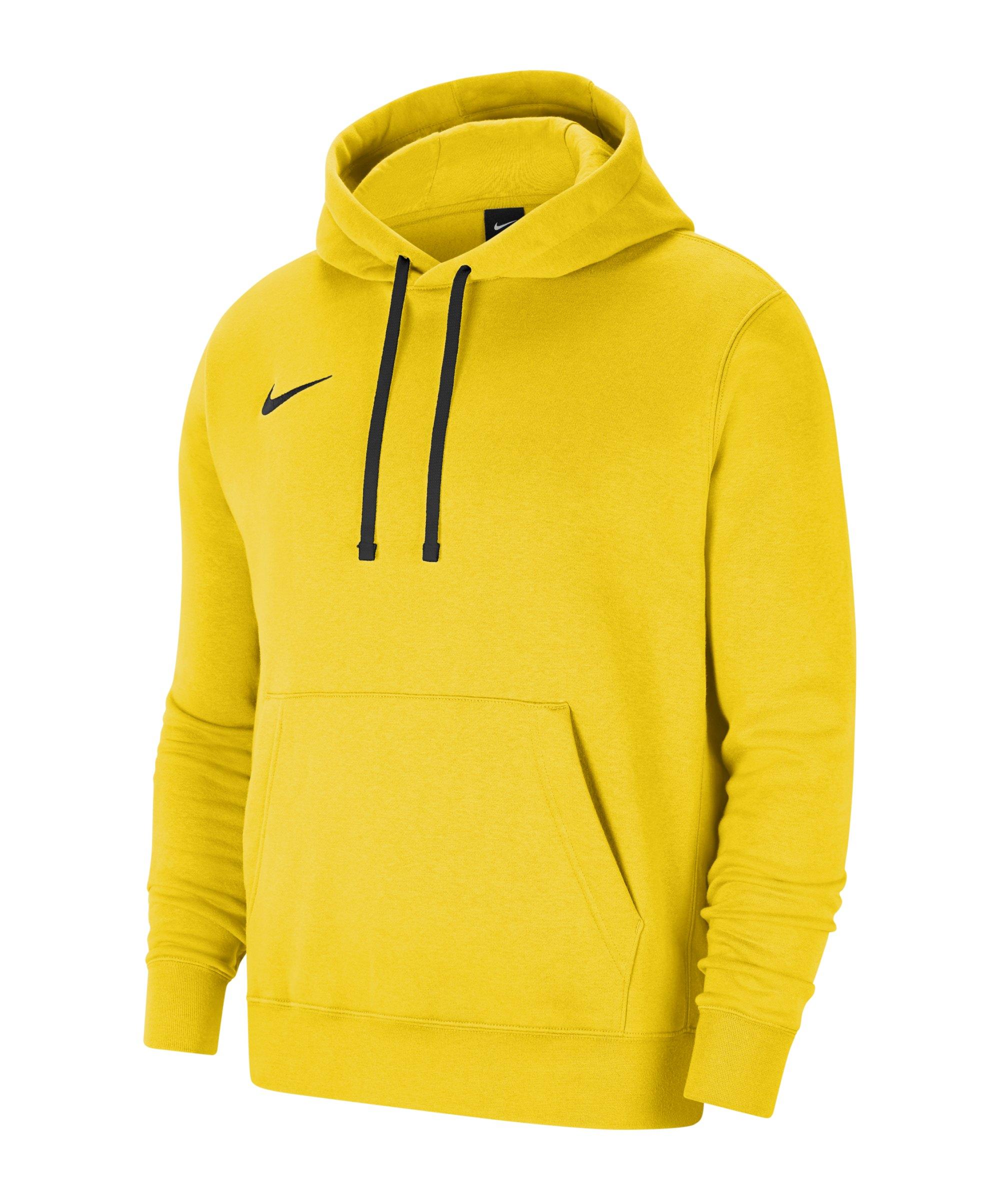 Nike Park 20 Fleece Hoody Gelb Schwarz F719 - gelb