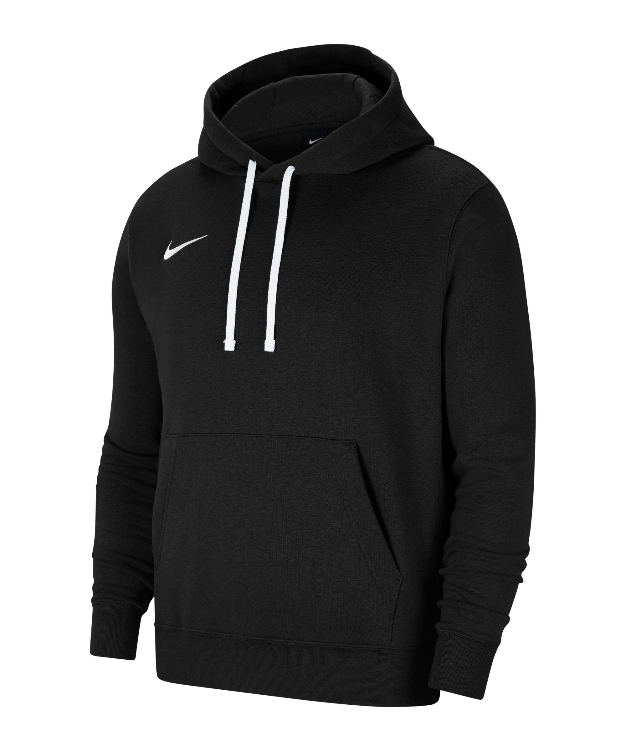 Nike Park 20 Fleece Hoody Schwarz Weiss F010 - schwarz