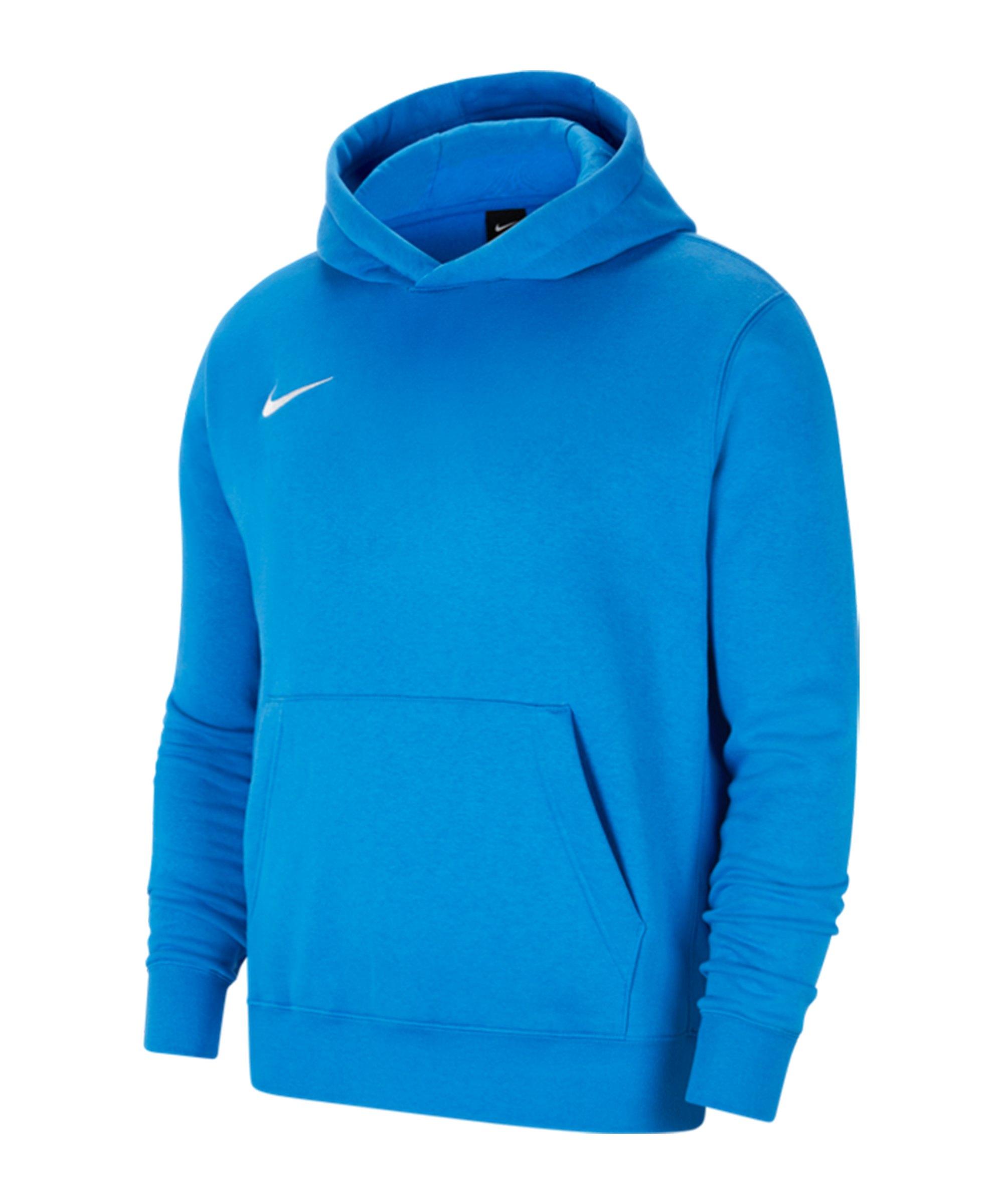 Nike Park 20 Fleece Hoody Kids Blau Weiss F463 - blau