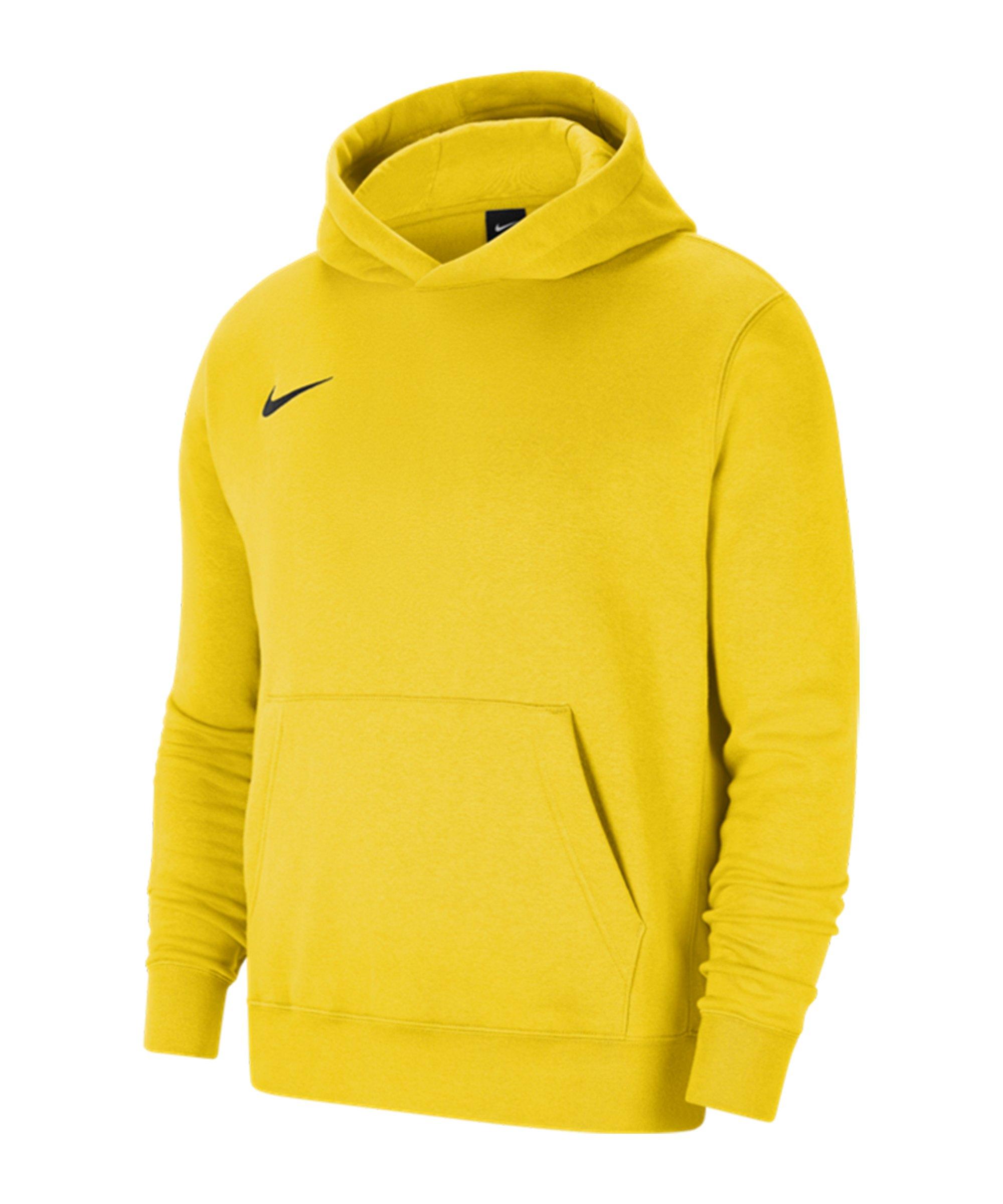 Nike Park 20 Fleece Hoody Kids Gelb Schwarz F719 - gelb