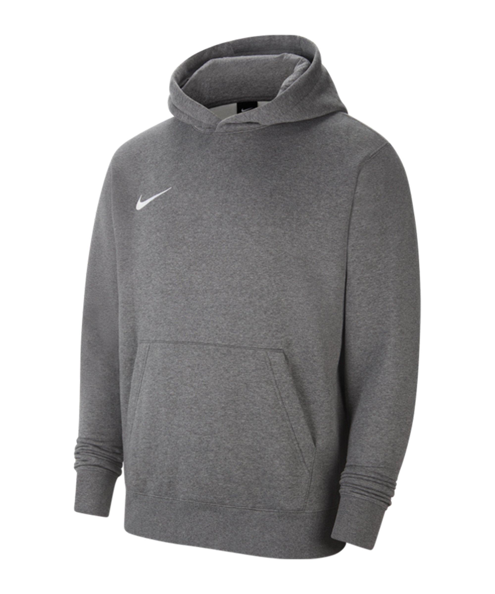 Nike Park 20 Fleece Hoody Kids Grau Weiss F071 - grau