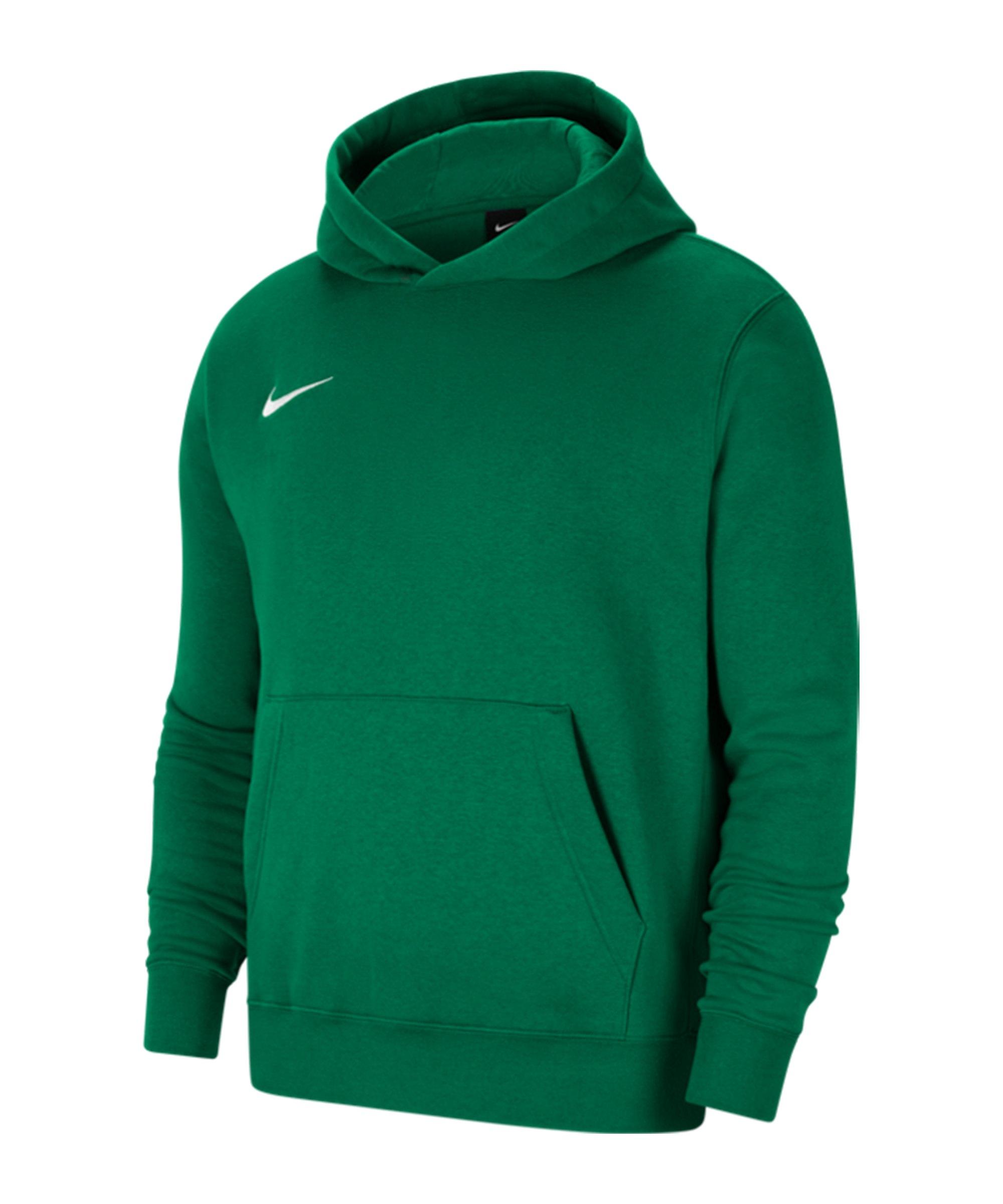 Nike Park 20 Fleece Hoody Kids Grün Weiss F302 - gruen