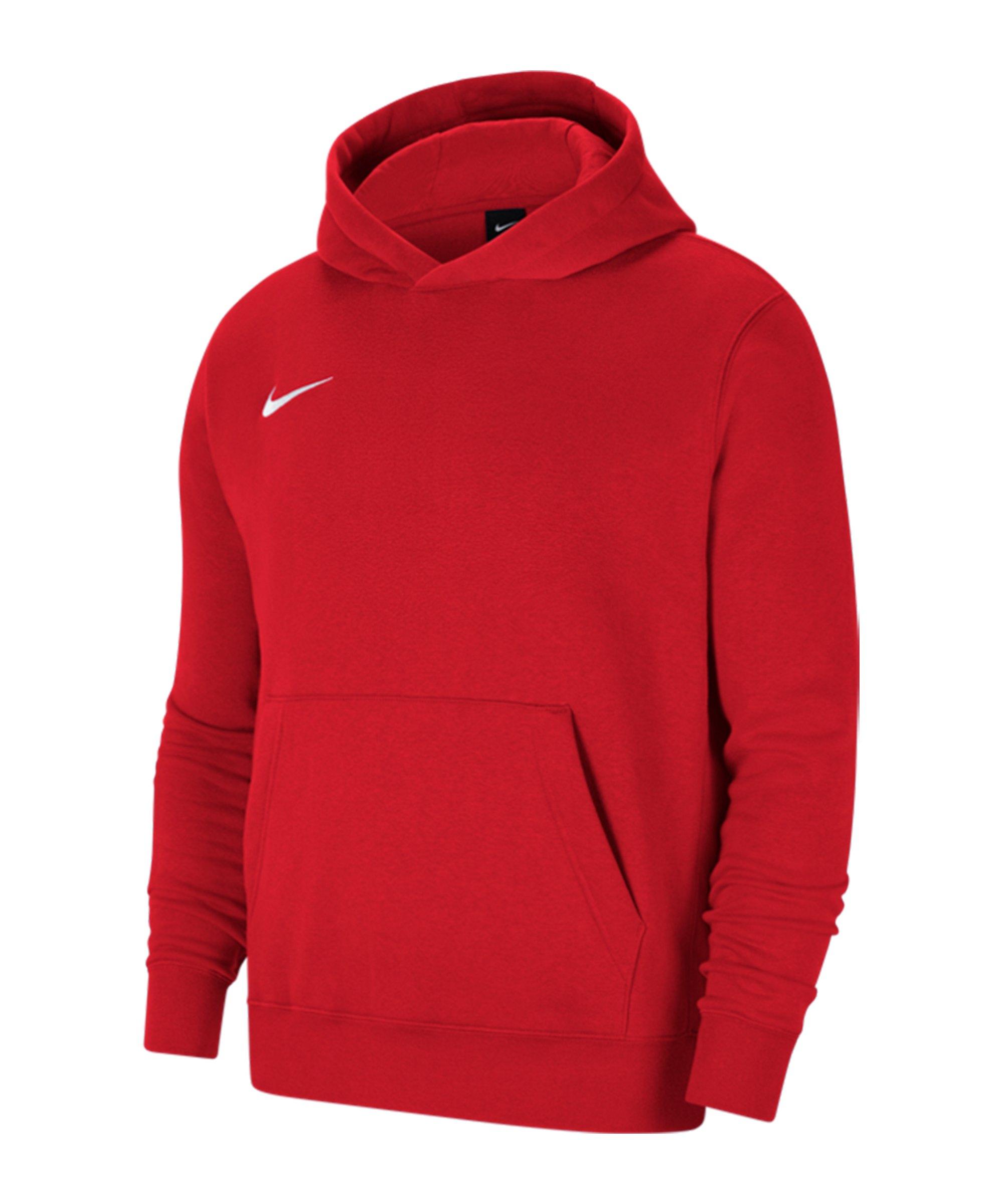 Nike Park 20 Fleece Hoody Kids Rot Weiss F657 - rot