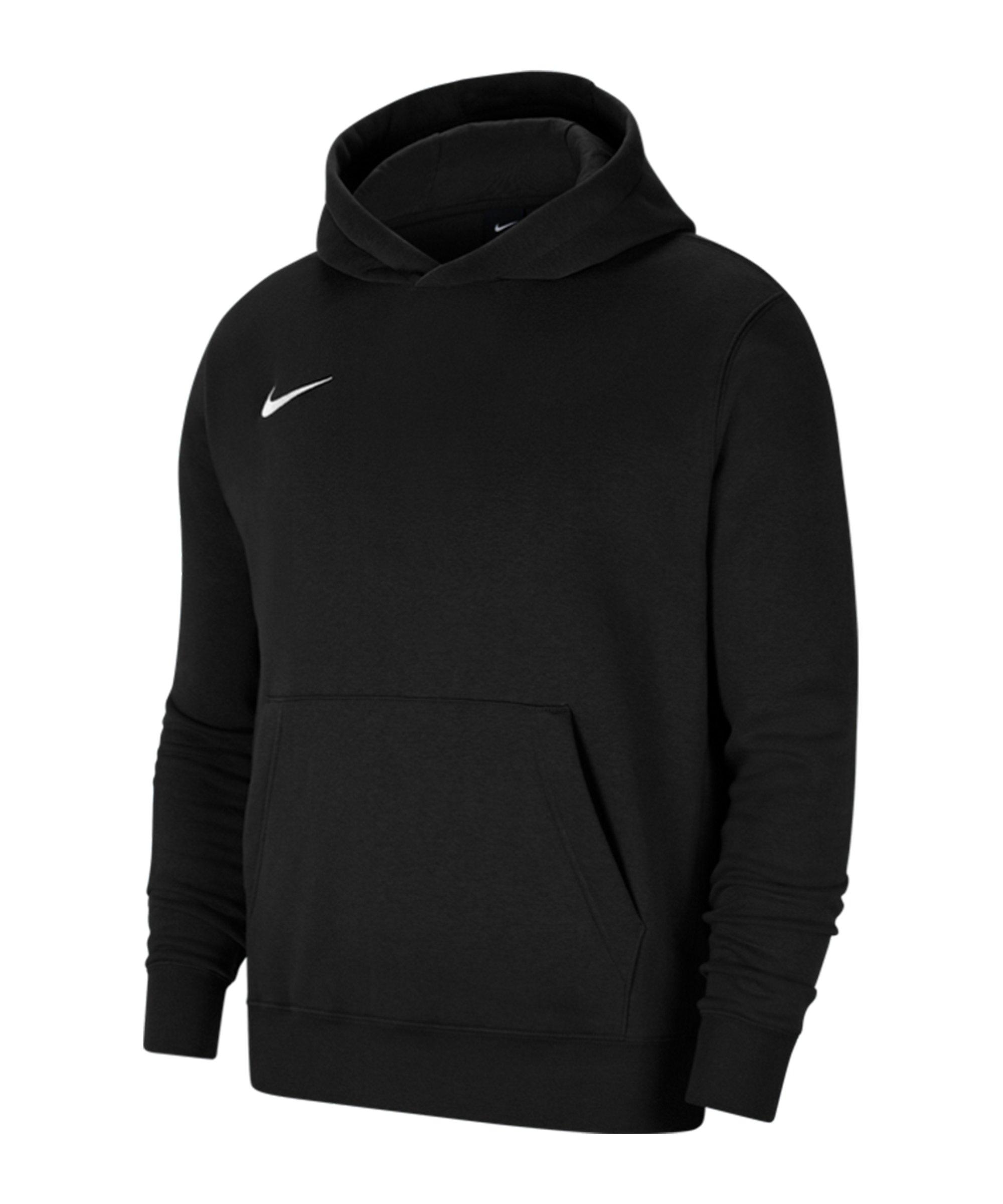 Nike Park 20 Fleece Hoody Kids Schwarz Weiss F010 - schwarz
