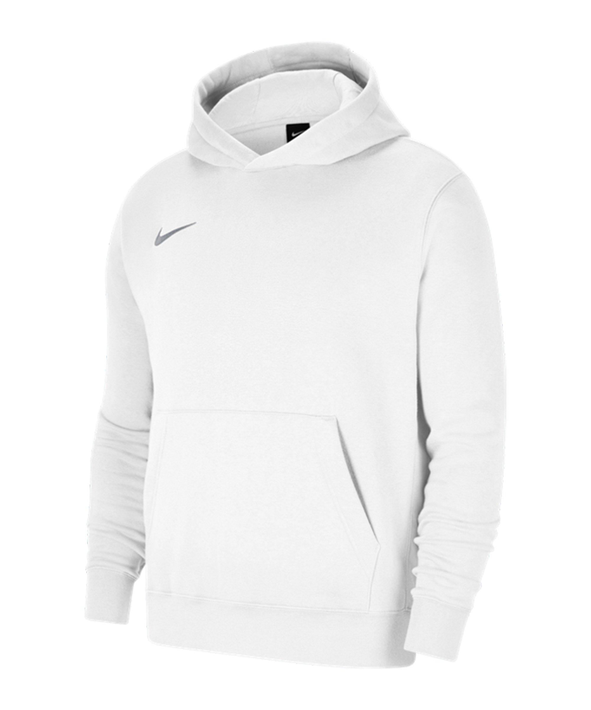 Nike Park 20 Fleece Hoody Kids Weiss Grau F101 - weiss