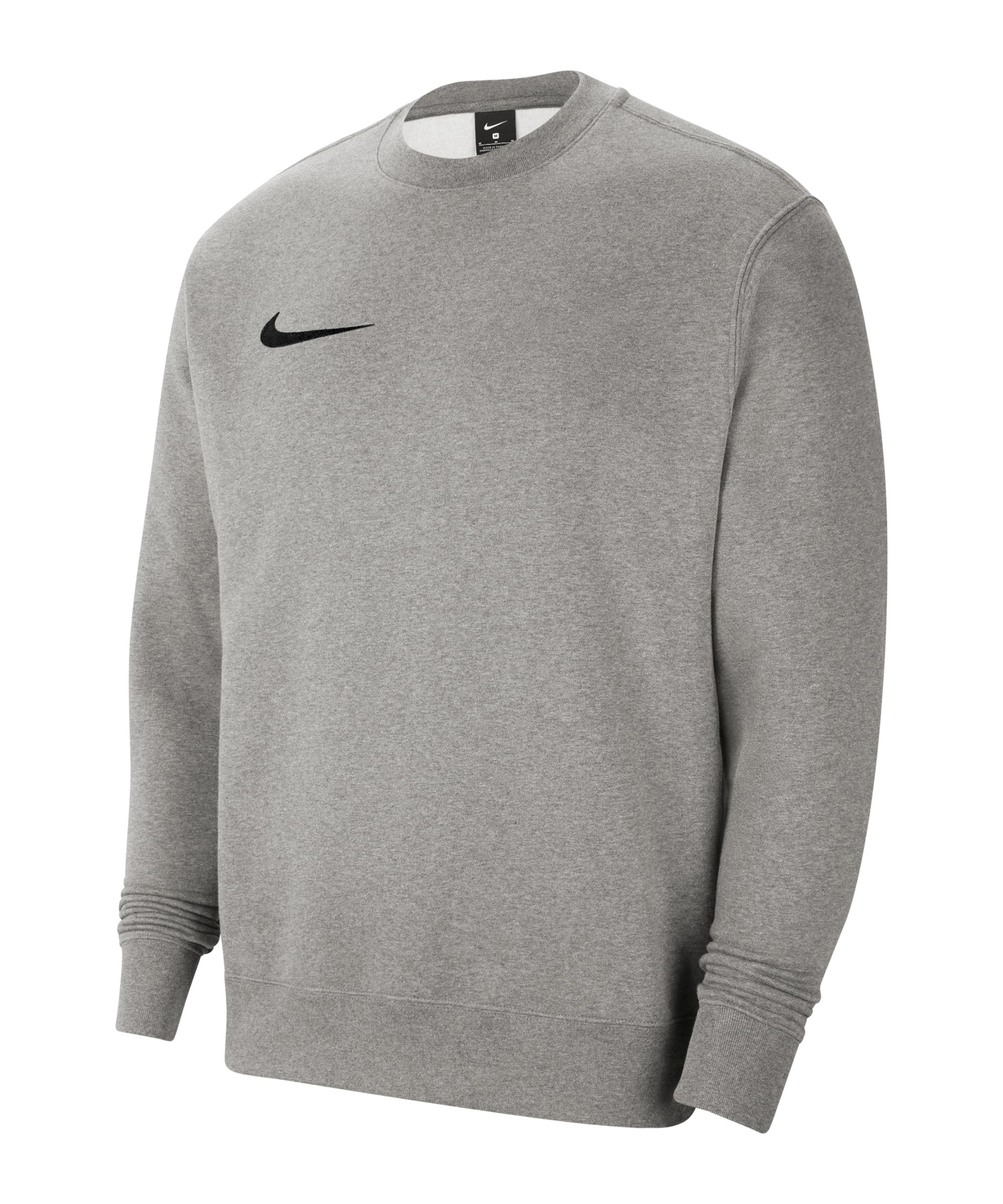 Nike Park 20 Fleece Sweatshirt Grau Schwarz F063 - grau