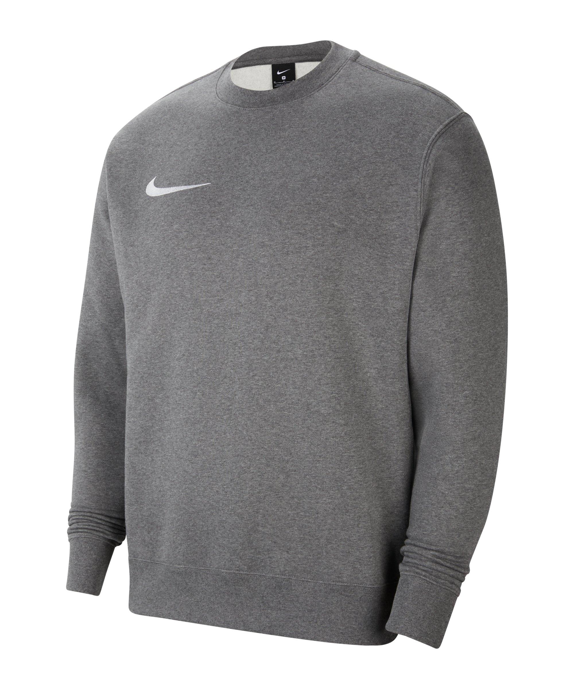 Nike Park 20 Fleece Sweatshirt Grau Weiss F071 - grau