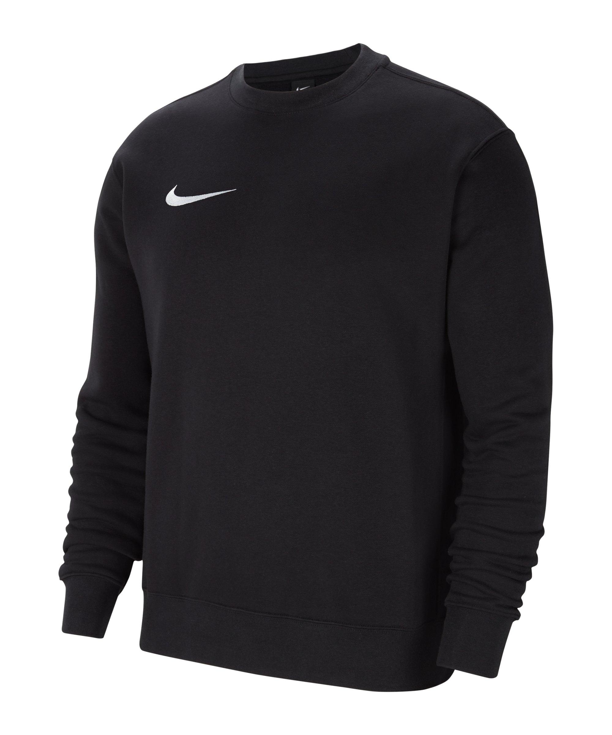Nike Park 20 Fleece Sweatshirt Schwarz Weiss F010 - schwarz